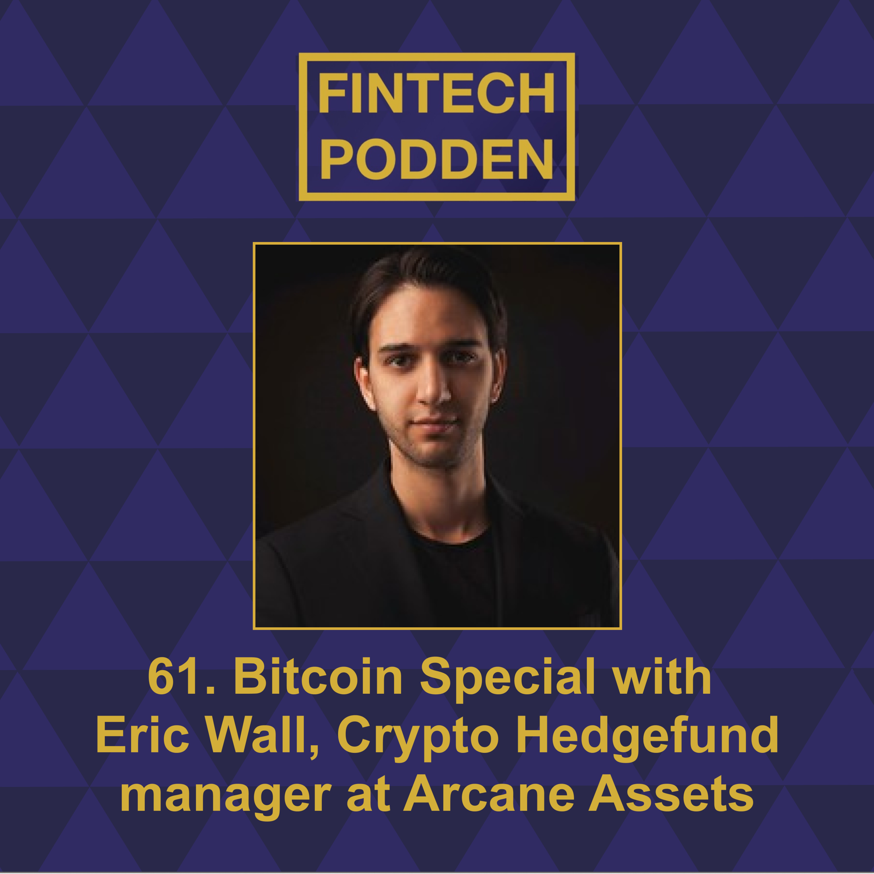 61. Bitcoin Special with Eric Wall, Crypto Hedgefund manager at Arcane Assets (part one)