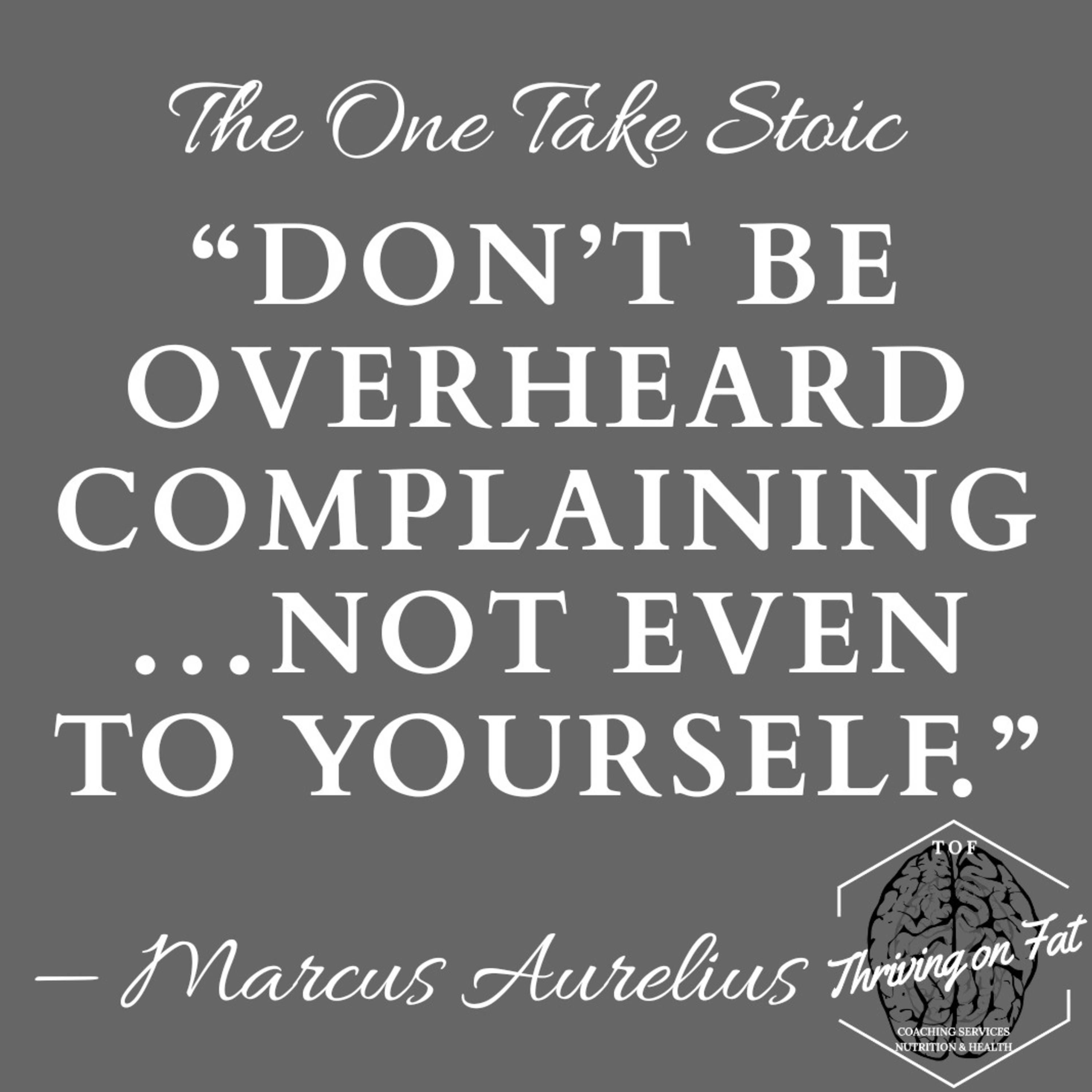 175: Stop complaining, start acting
