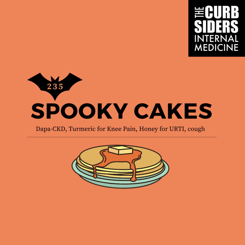 #235 Spooky Cakes: Dapa-CKD, Turmeric for Knee Pain, Honey for URTI