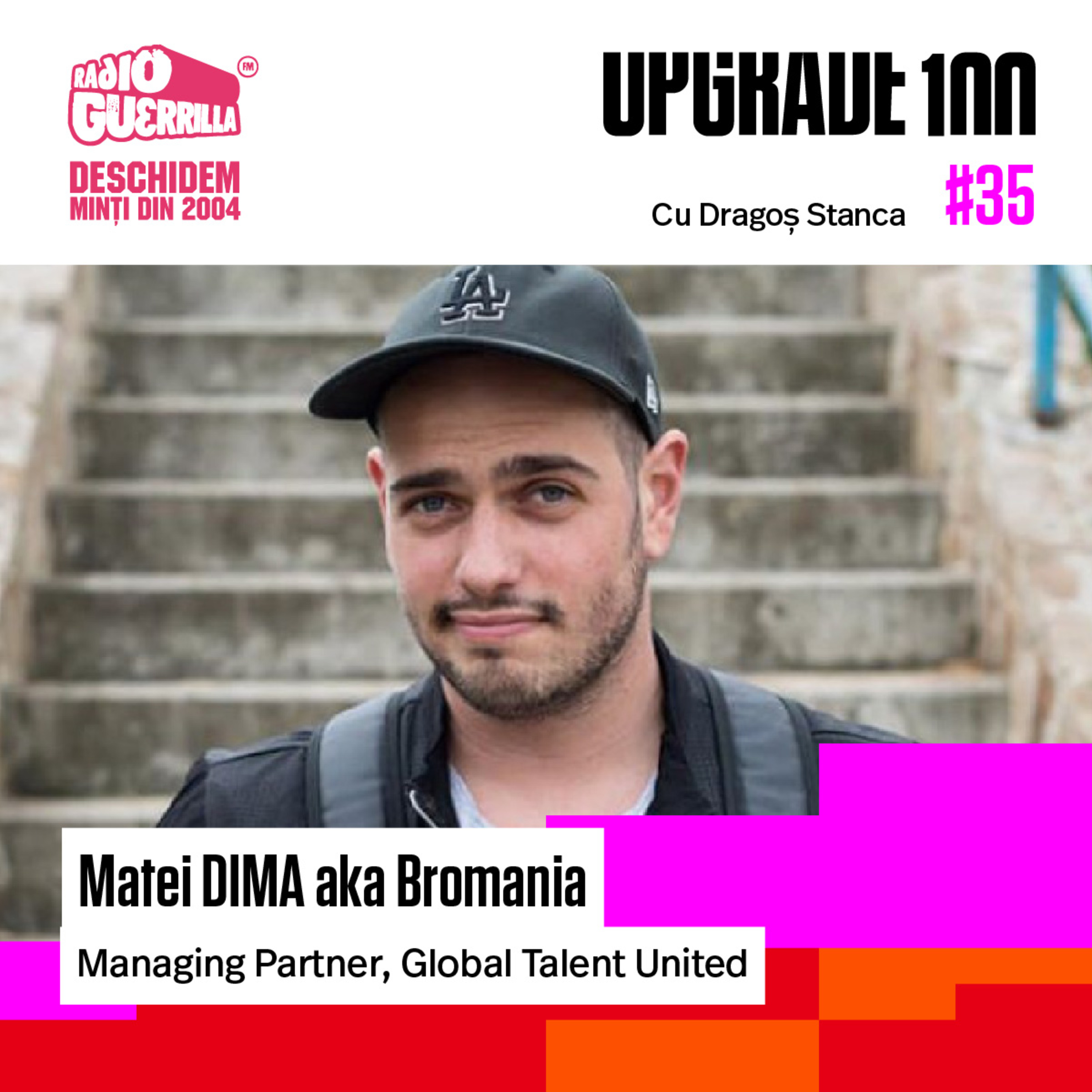 "#35 VLOG vs TV. Cu Matei Dima, aka BRomania, despre ""L-a seral"", industria de vlogging + business-ul ""Global Talent United"""