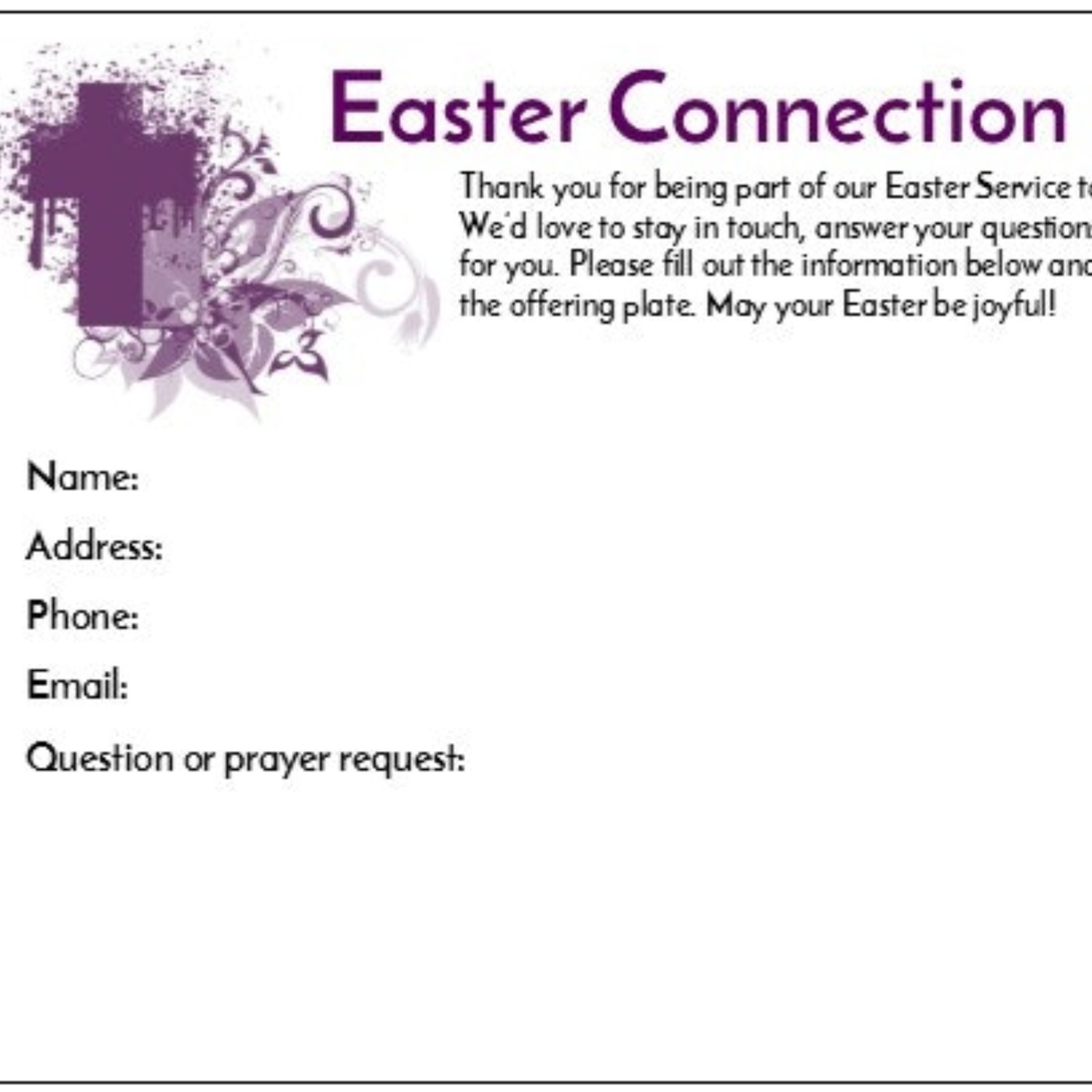Connection Cards—What really works best to get people back to your church after Easter is one of the least impressive things you do