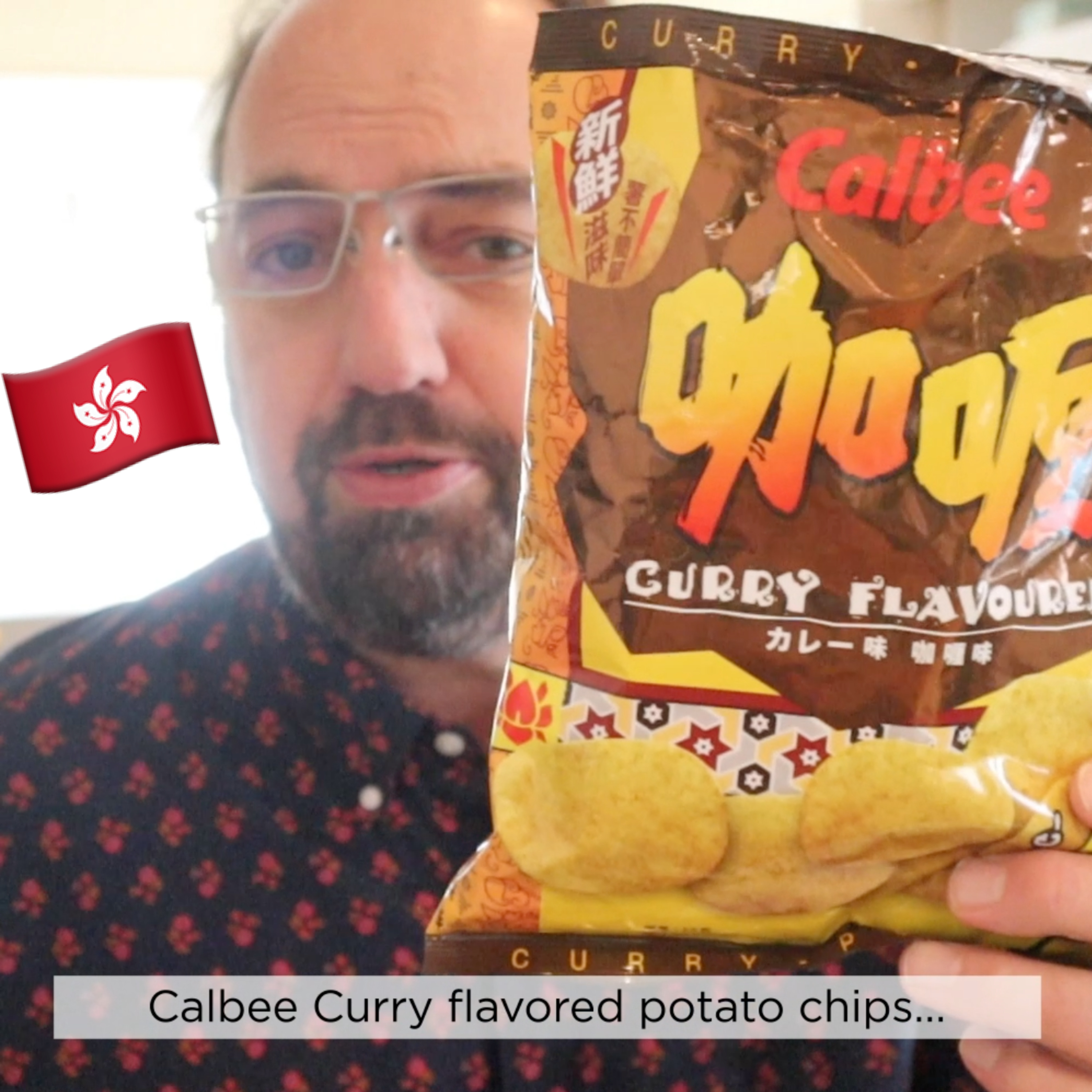 ?? Calbee Curry Flavor Potato Chips on In The Chips with Barry