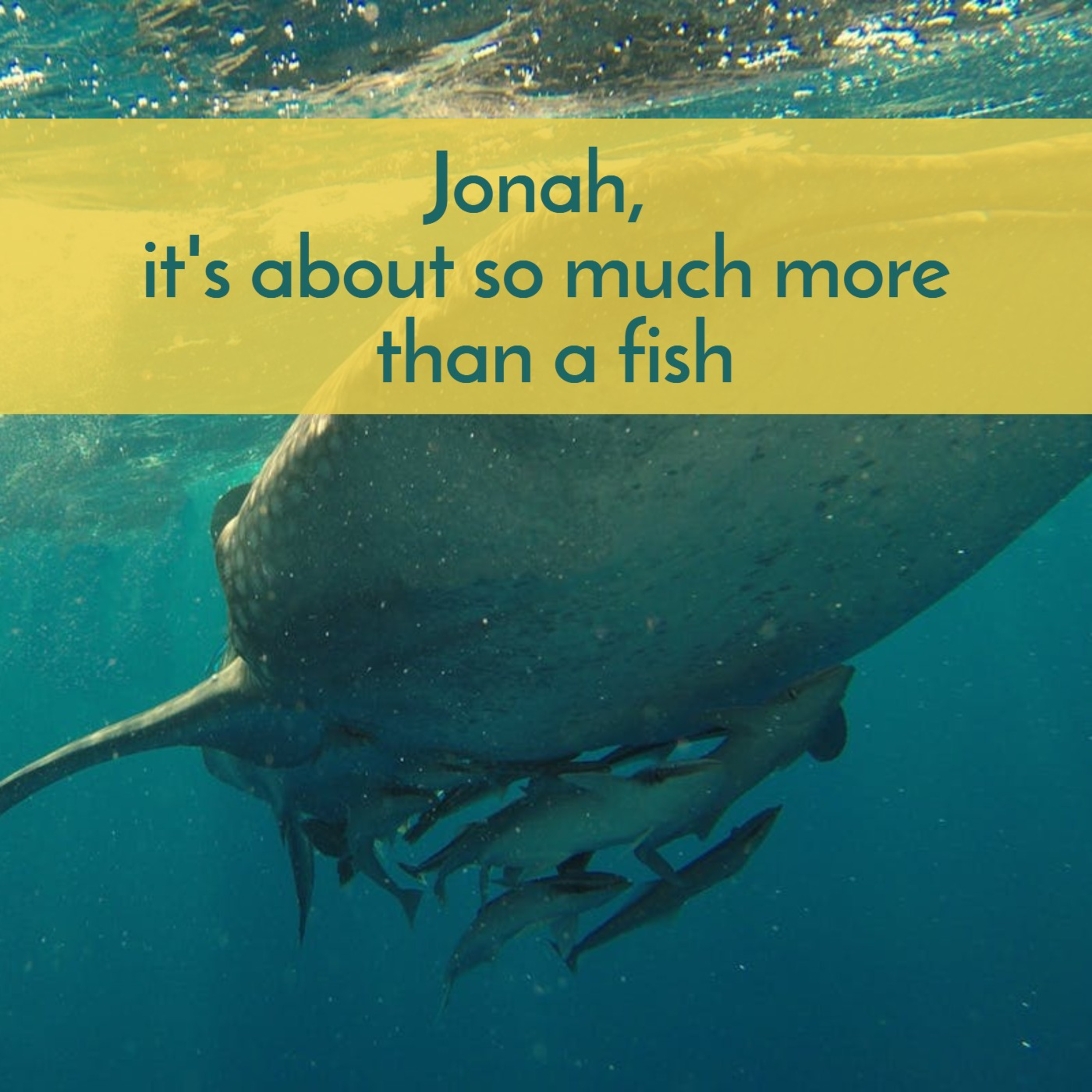 #39 Jonah, about so much more than a fish