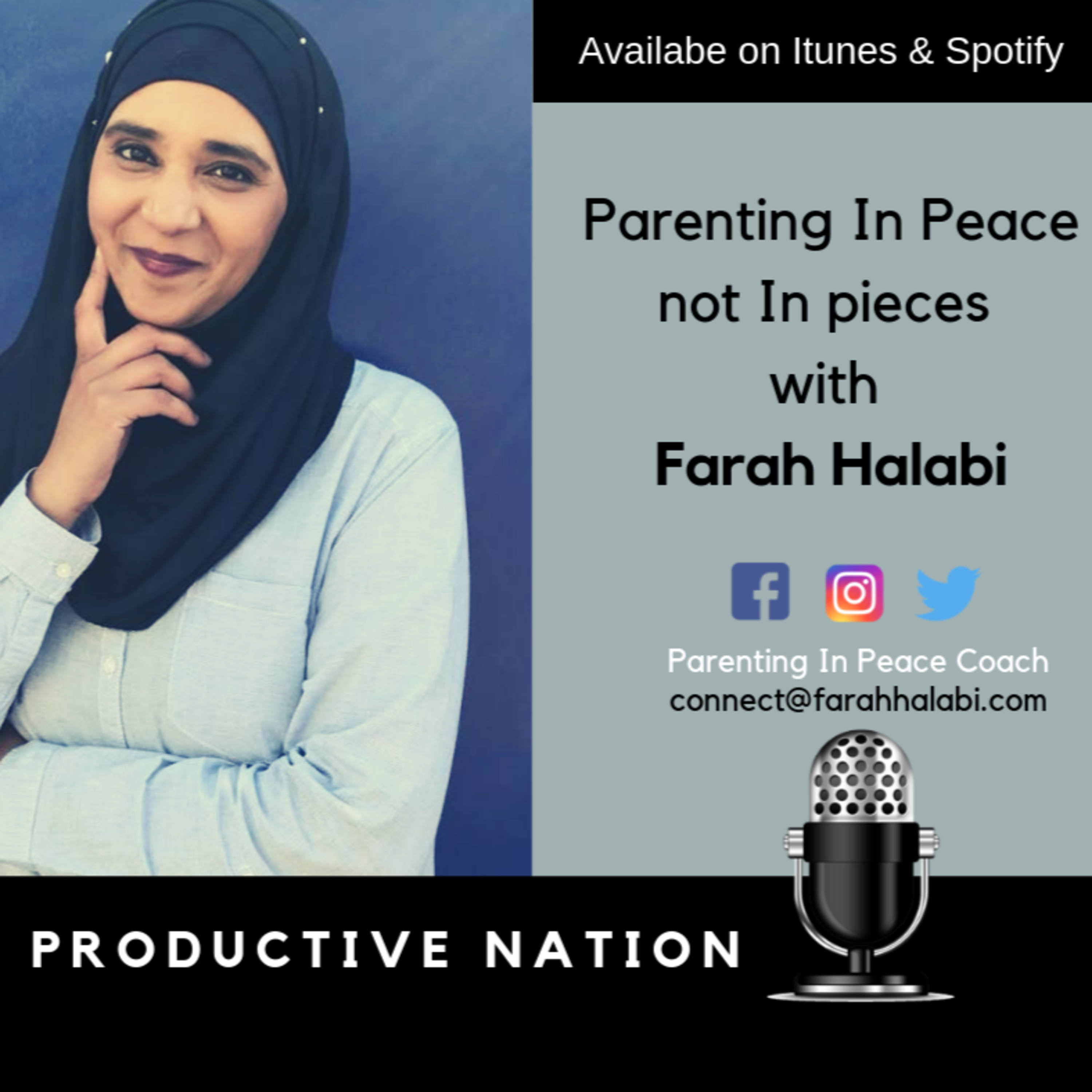 Parenting In Peace not In pieces with Farah Halabi