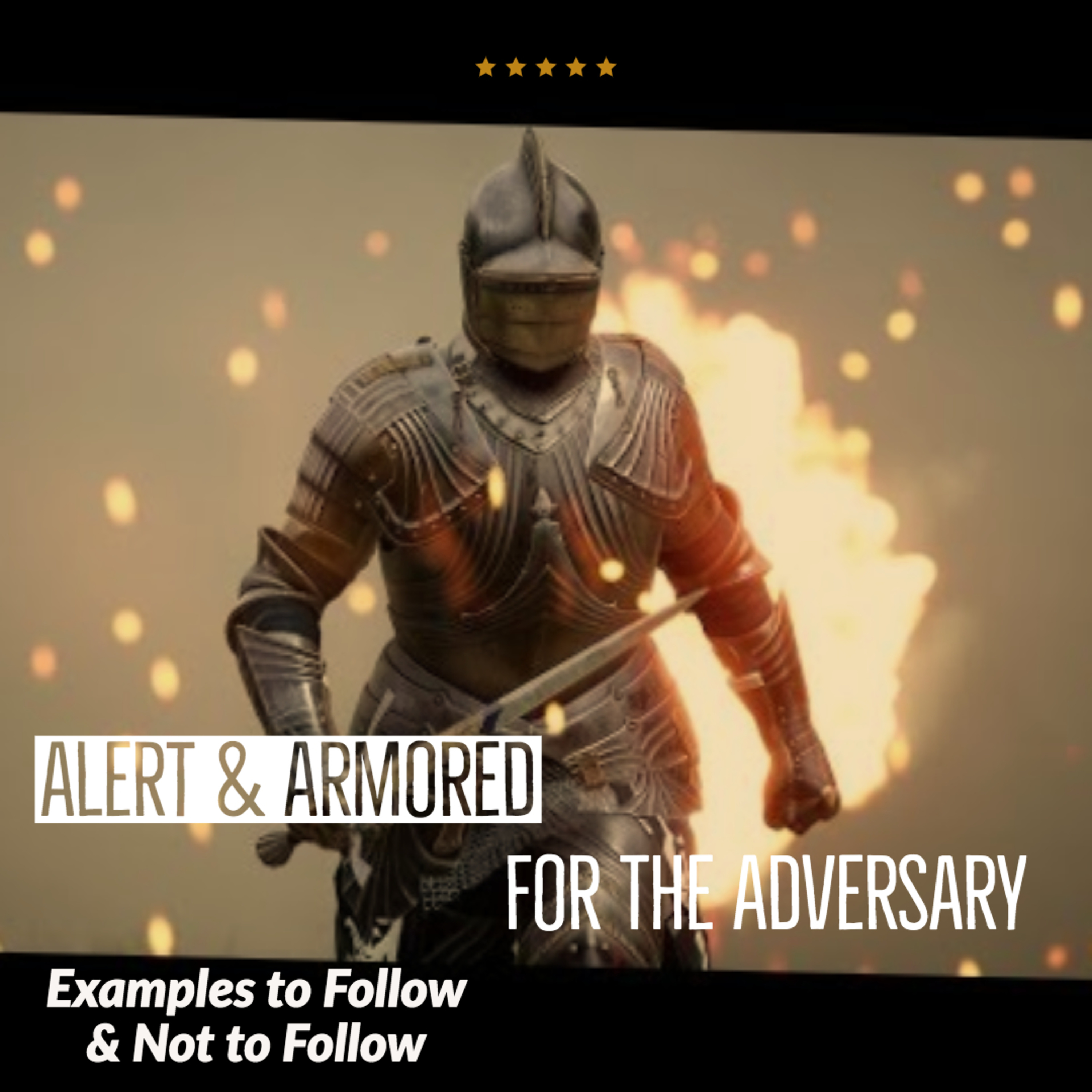 Alert and Armored for the adversary