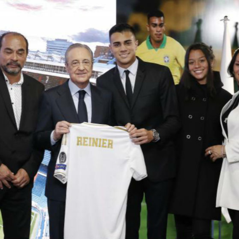 Reinier Jesus Carvalho presented at Bernabeu
