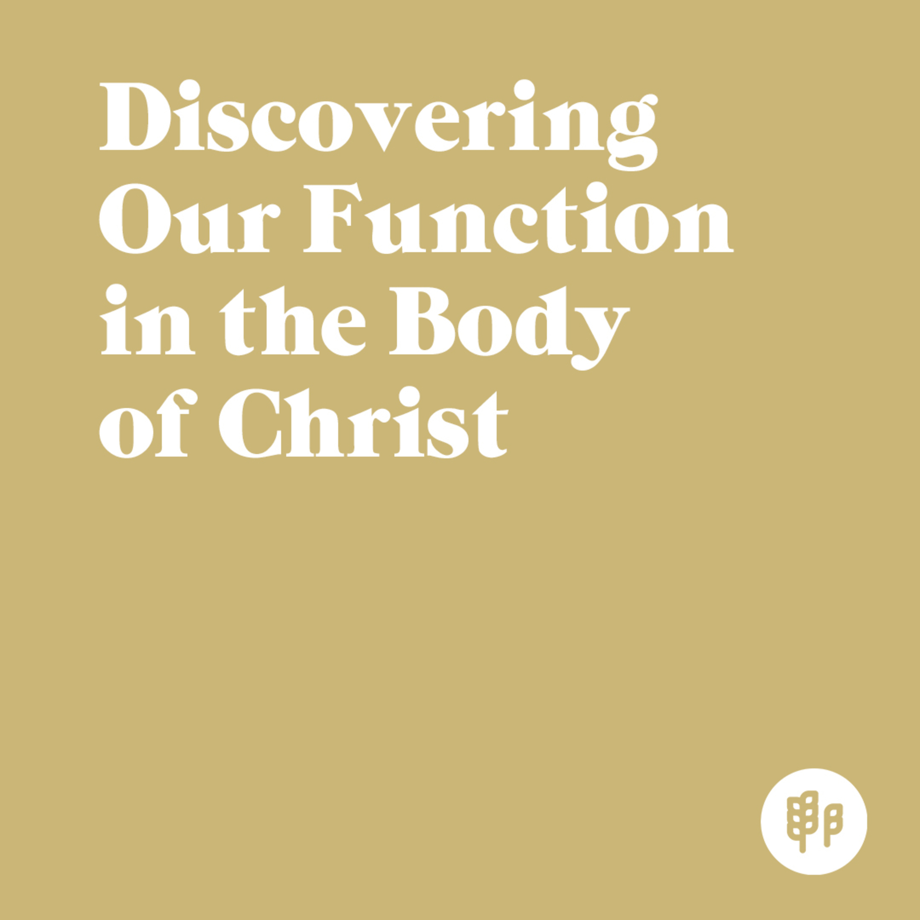 Discovering Our Function in the Body of Christ (M.R.)