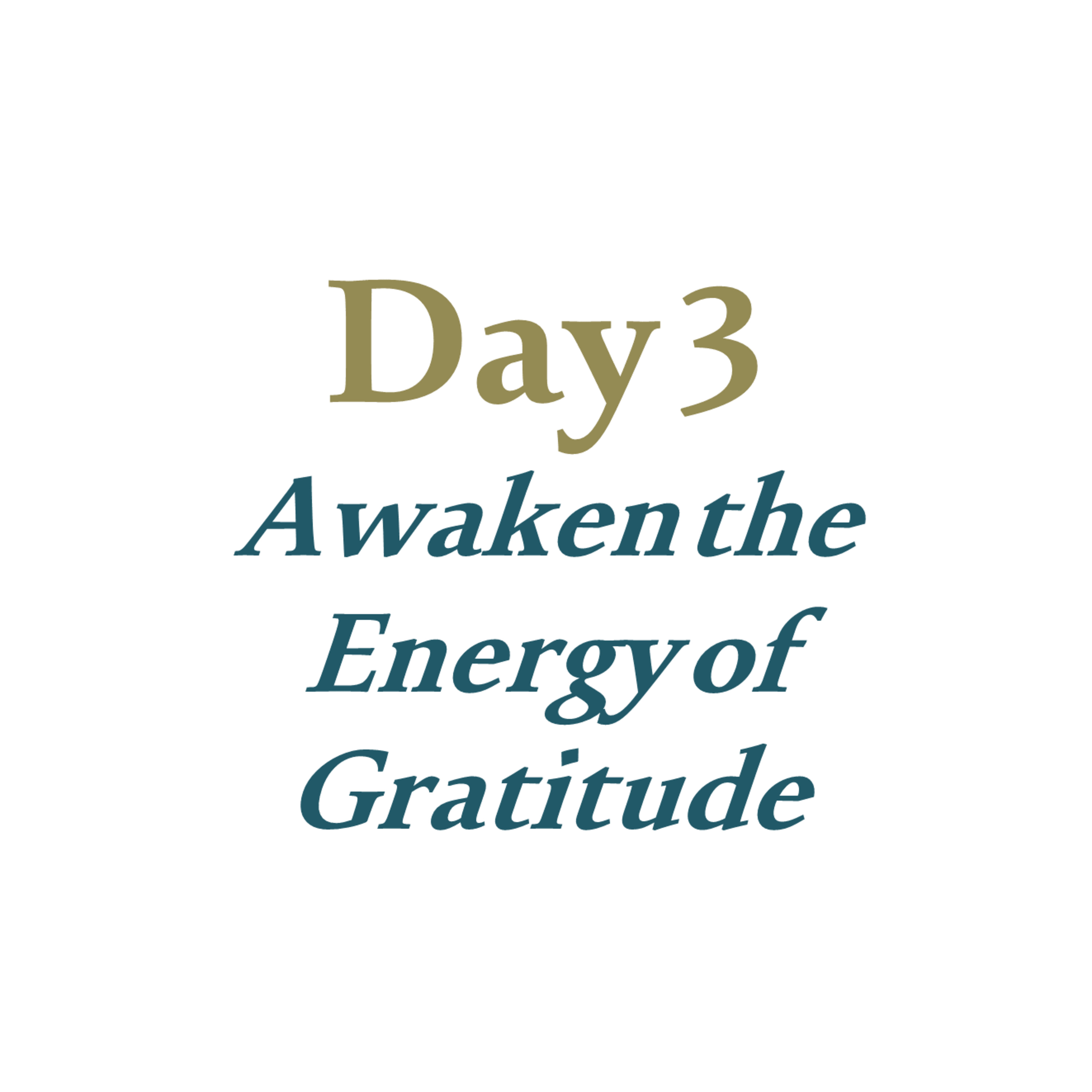Day 3 - Awaken the Energy of Gratitude