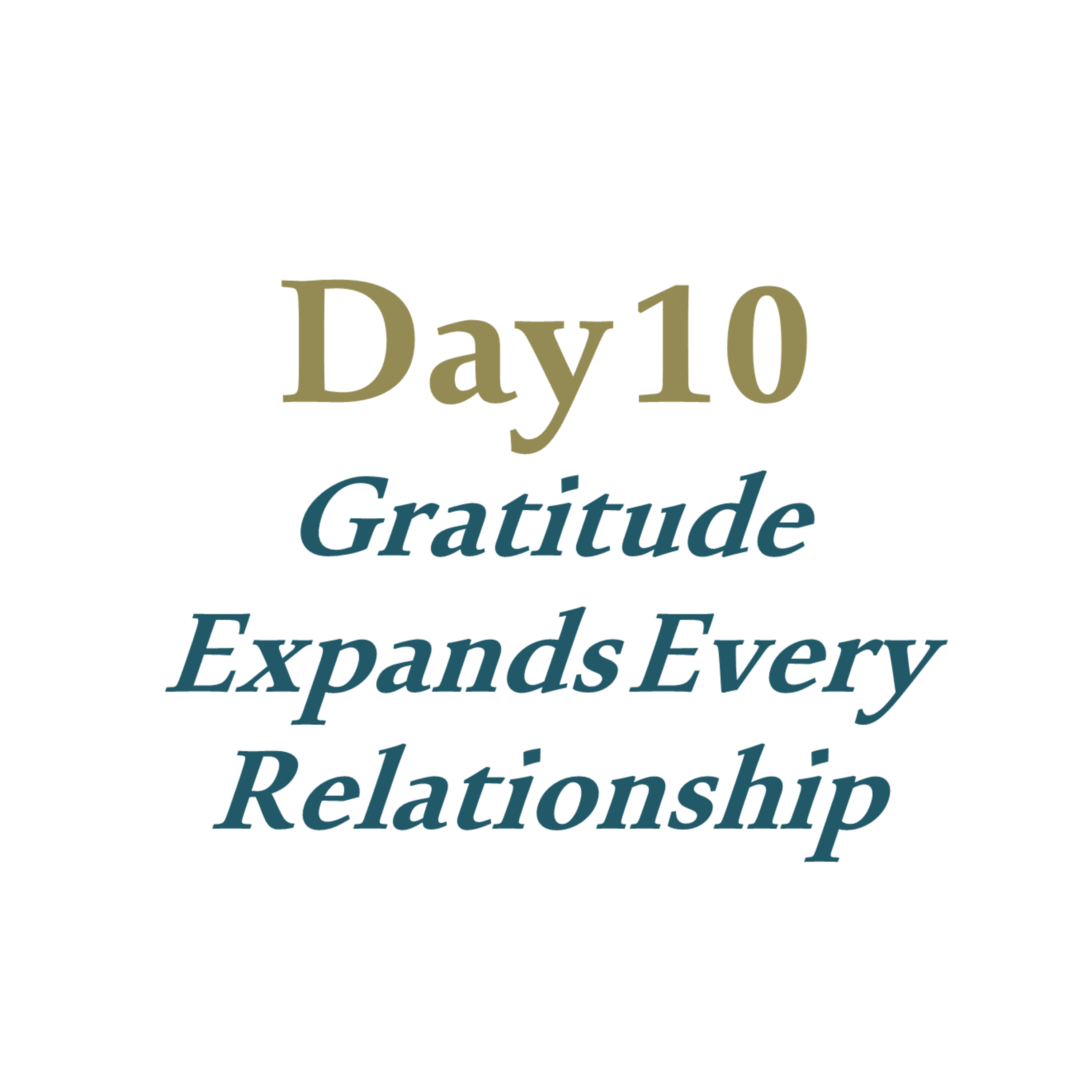 Day 10 - Gratitude Expands Every Relationship