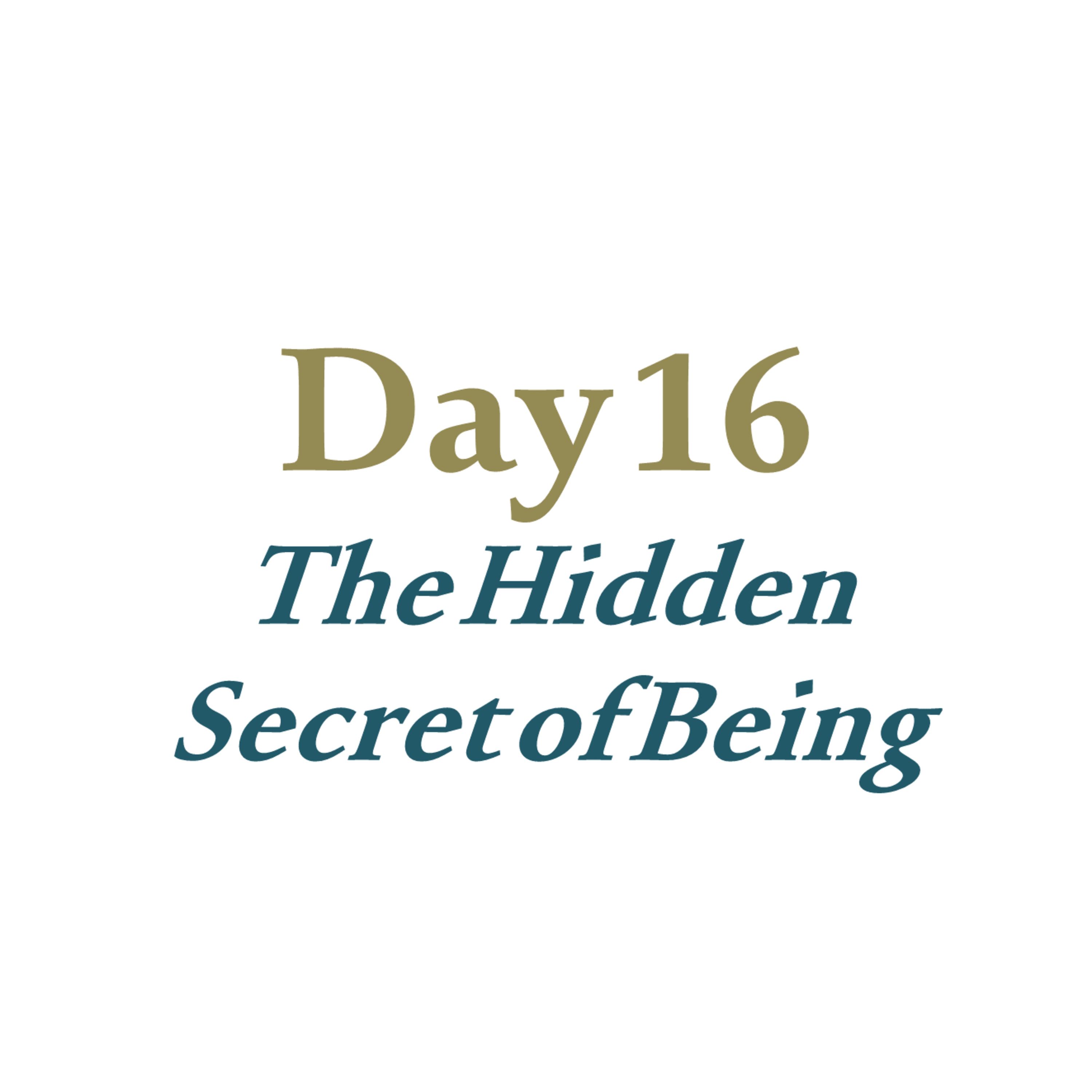 Day 16 - The Hidden Secret of Being