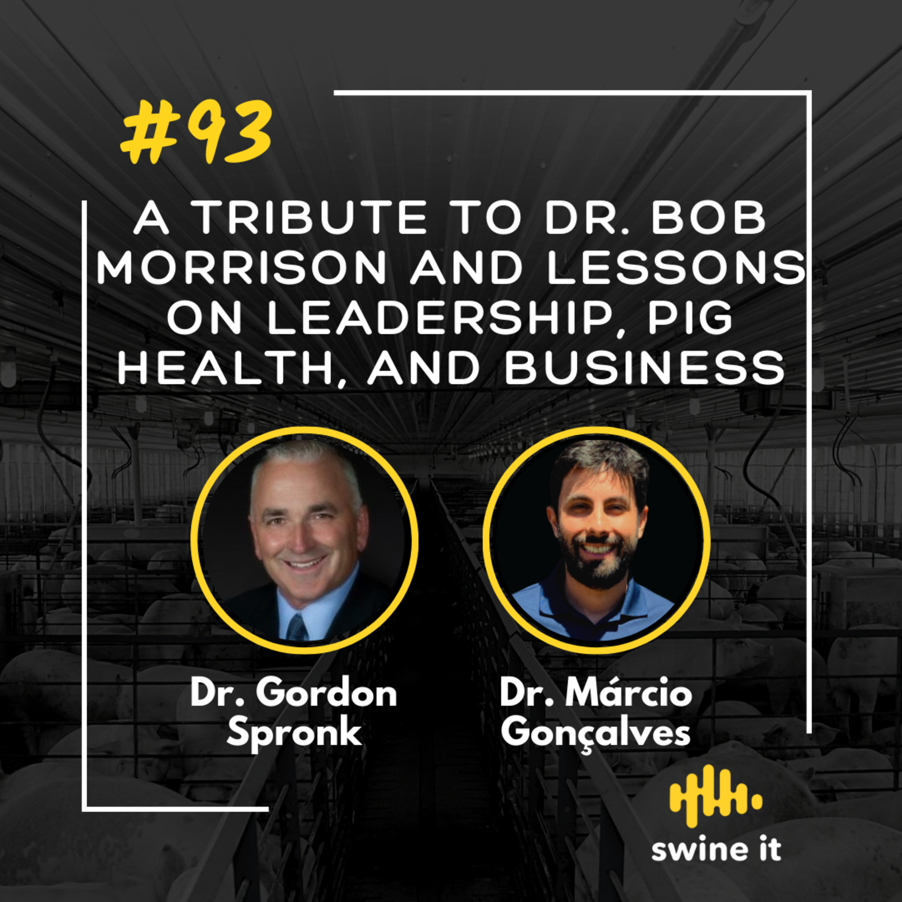 A tribute to Dr. Bob Morrison and lessons on leadership, pig health, and business - Dr. Gordon Spronk