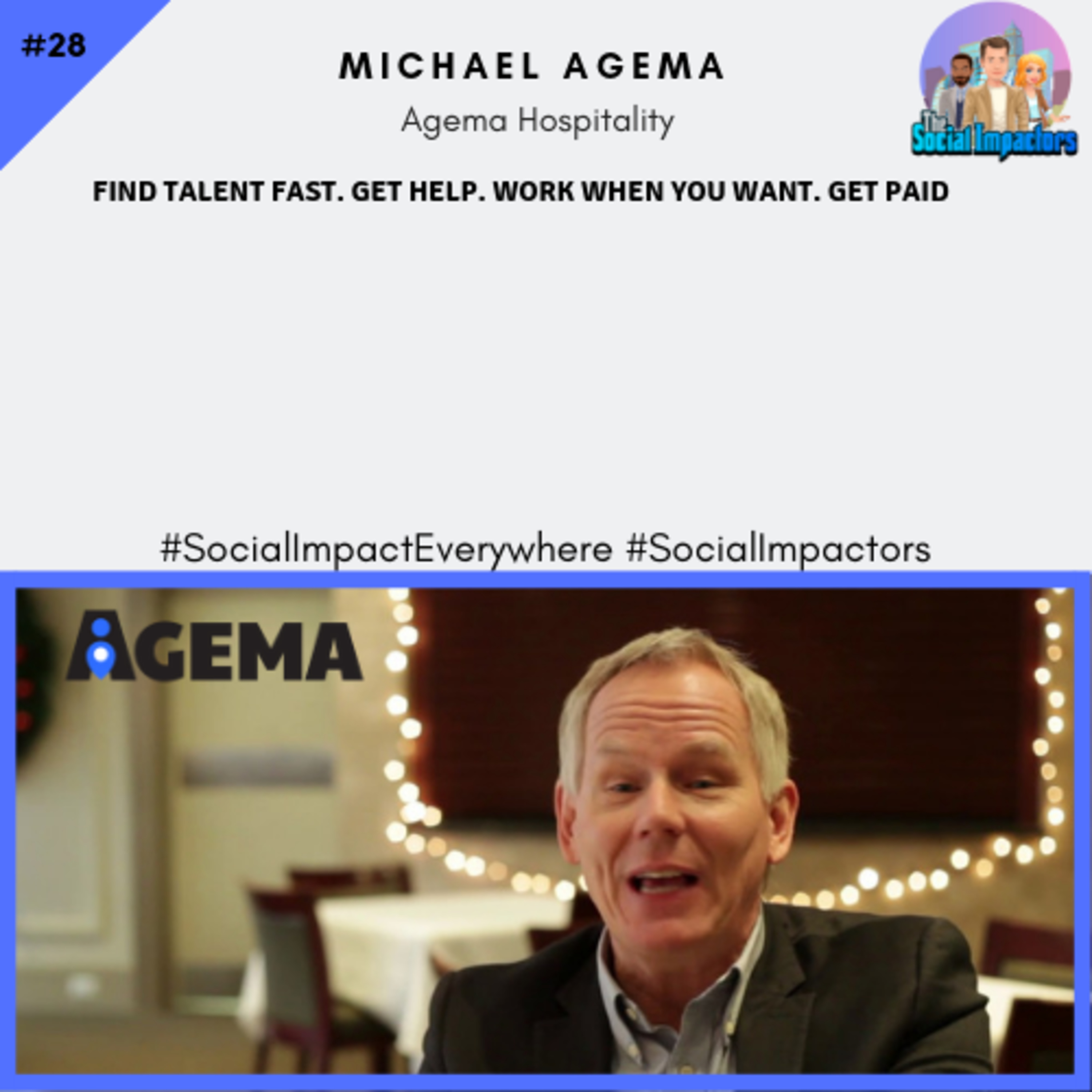 Disrupting the hospitality market, finding talent fast & working when you want (Michael Agema of Agema Hospitality)
