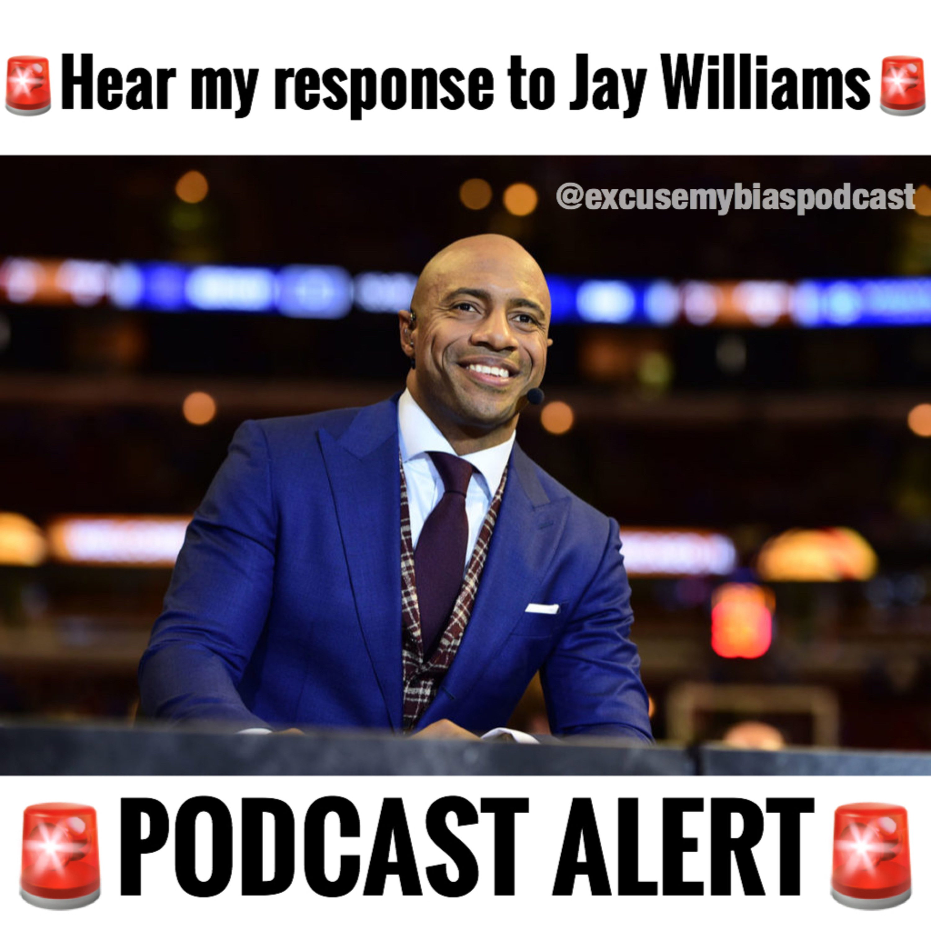 HEAR MY RESPONSE TO ESPN's JAY WILLIAMS REACTION TO MY POST ABOUT HIM CRITICIZING STEPH CURRY