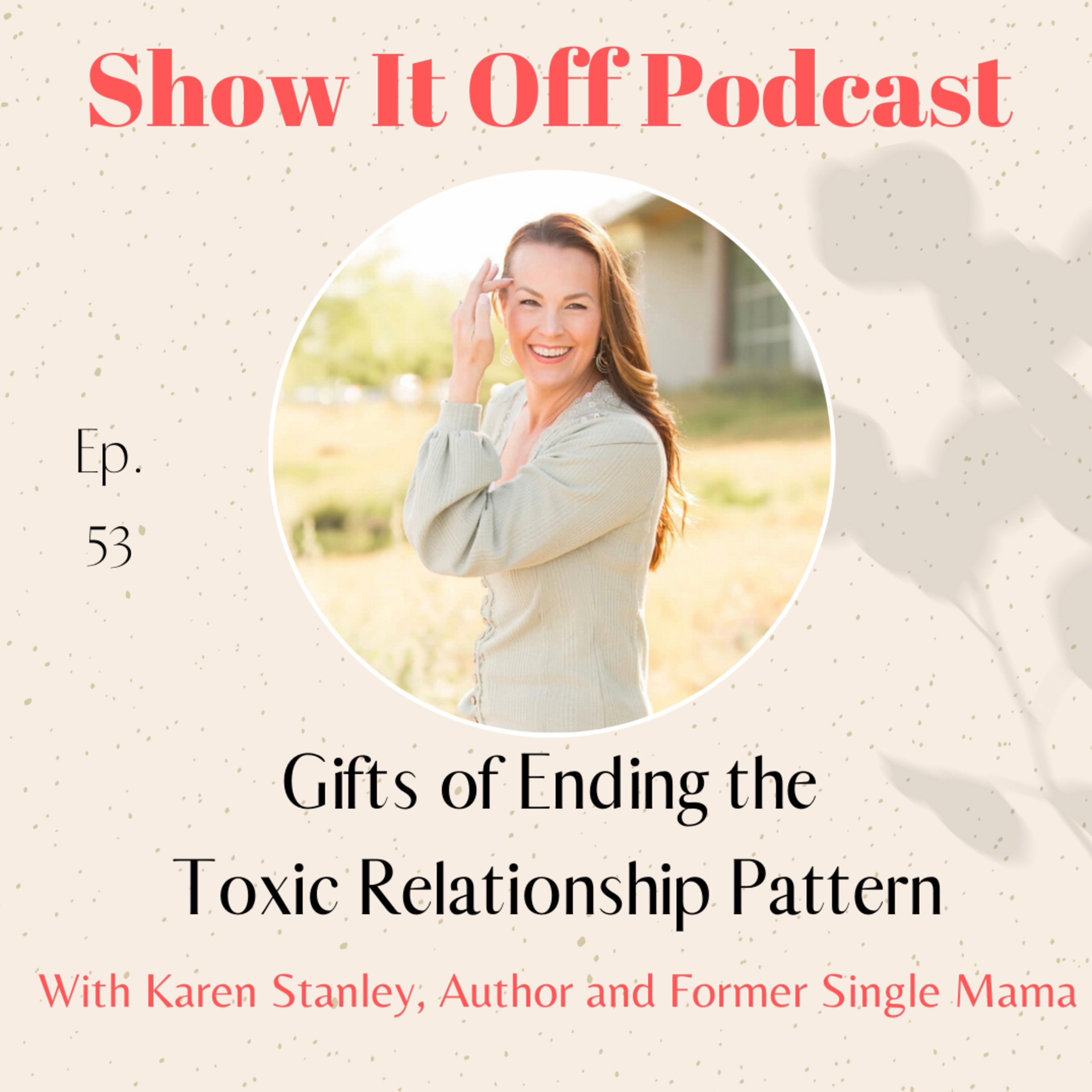 Gifts of Ending the Toxic Relationship Pattern with Author and Former Single Mama, Karen Stanley