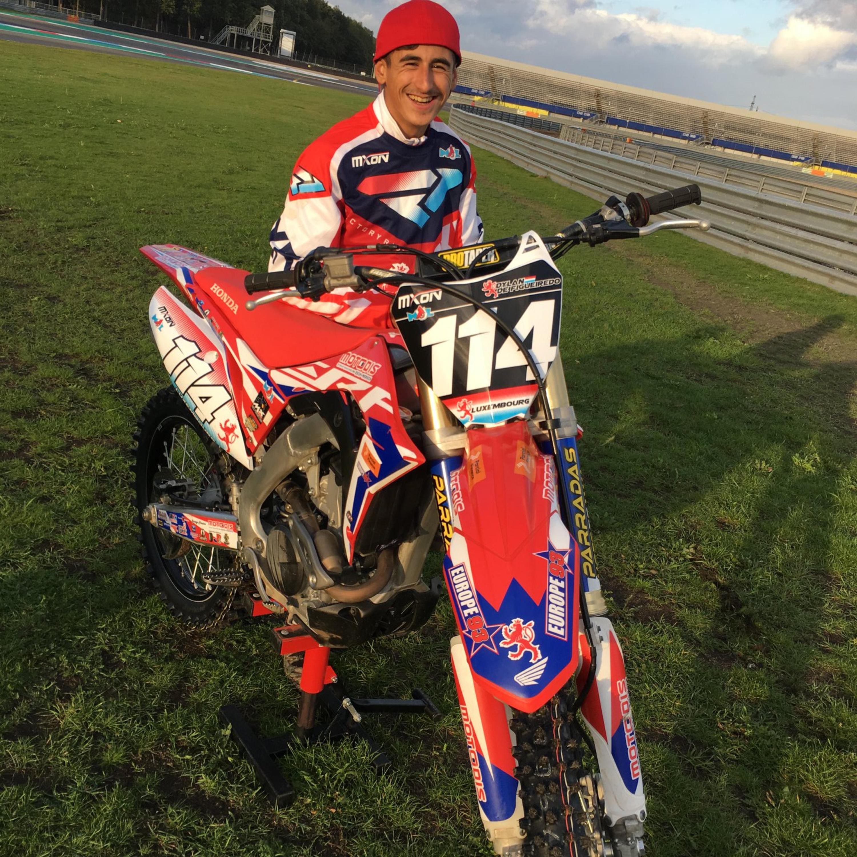 O Lusodescente Dylan de Figueiredo representa o Luxemburgo no Motocross das Nações