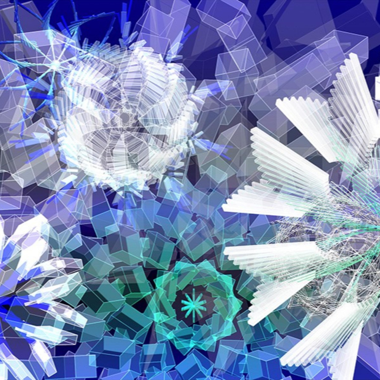Digital Cristaux : poétique de la glace par Miguel Chevalier
