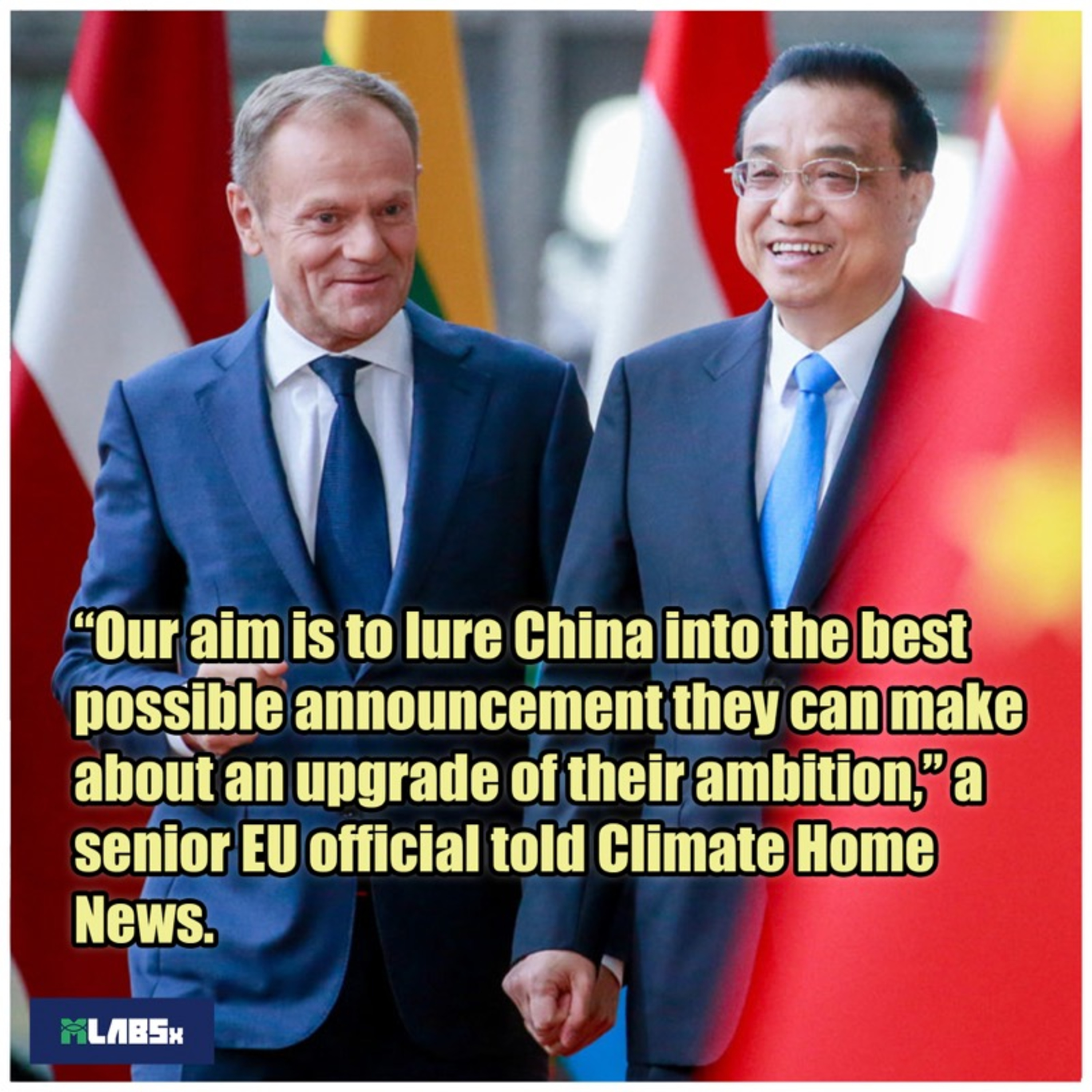 EU is creating Climate Deal with China.