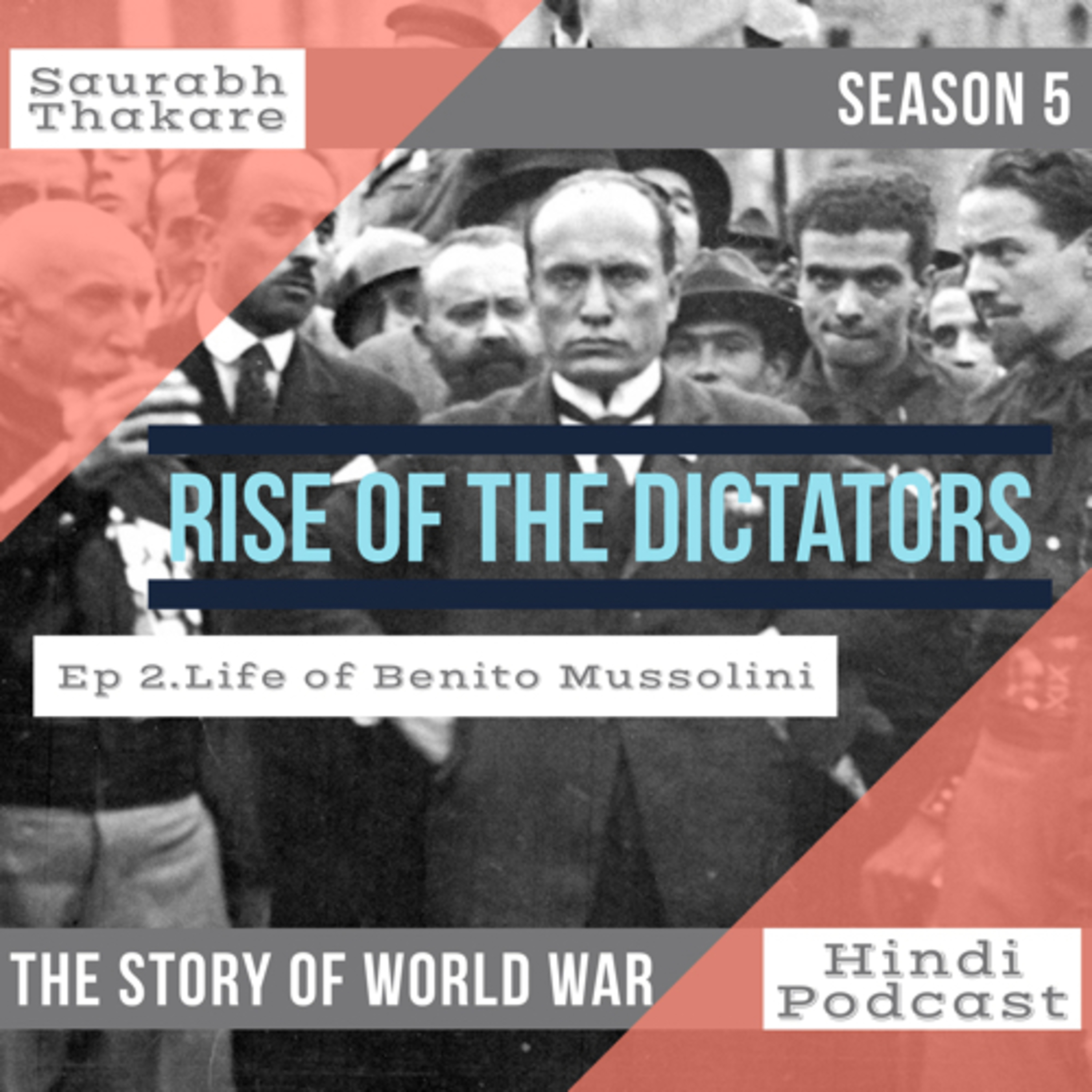 #39 RISE OF THE DICTATORS |Ep 18. life of Benito Mussolini