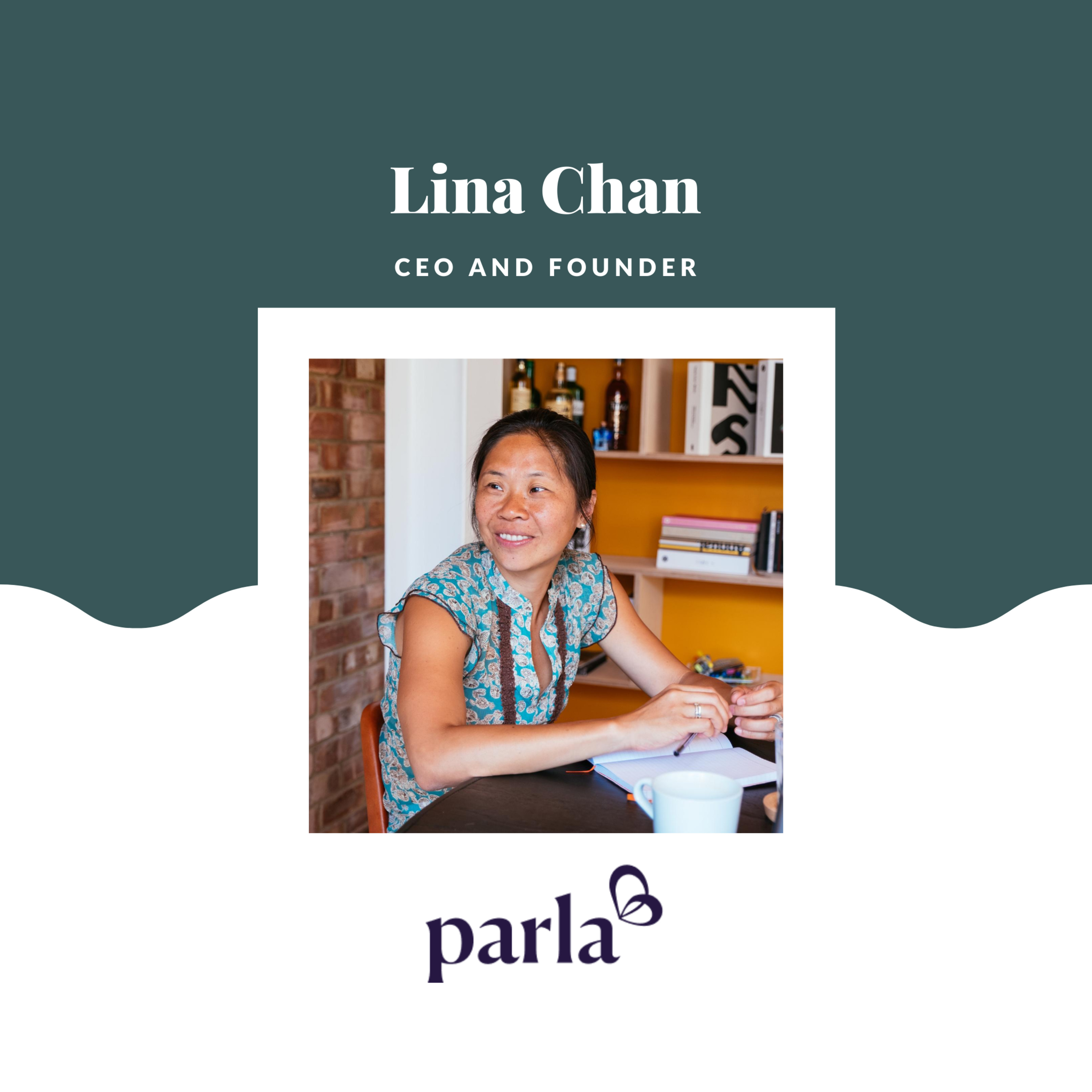 """""""Build something you are passionate about because in a day there will be more reasons to not do it than to do it."""" - Lina Chan, CEO and Founder at Parla"""