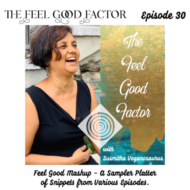 30: Feel Good Mashup - A Sampler Platter of Snippets from Various Episodes