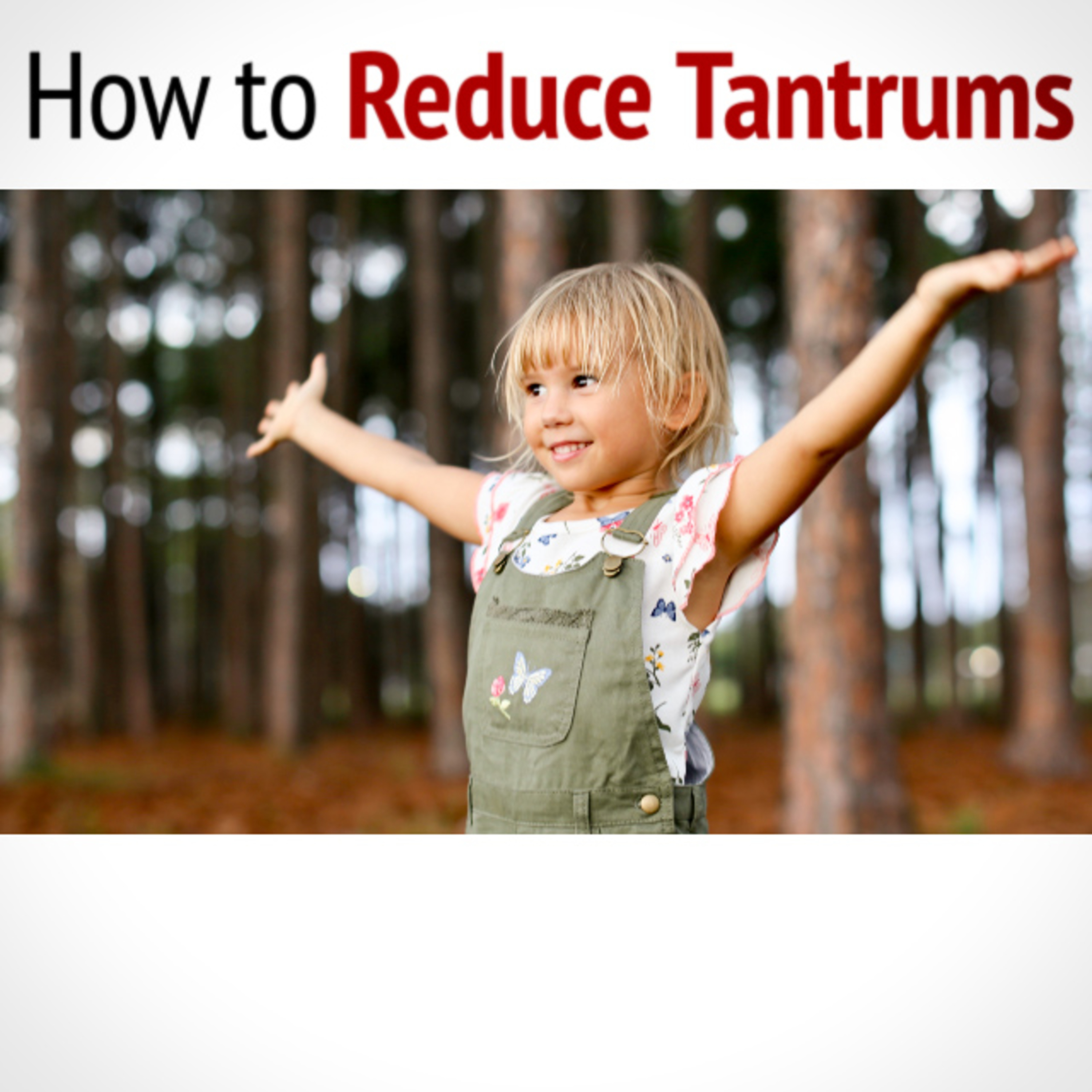 How to REDUCE TANTRUMS
