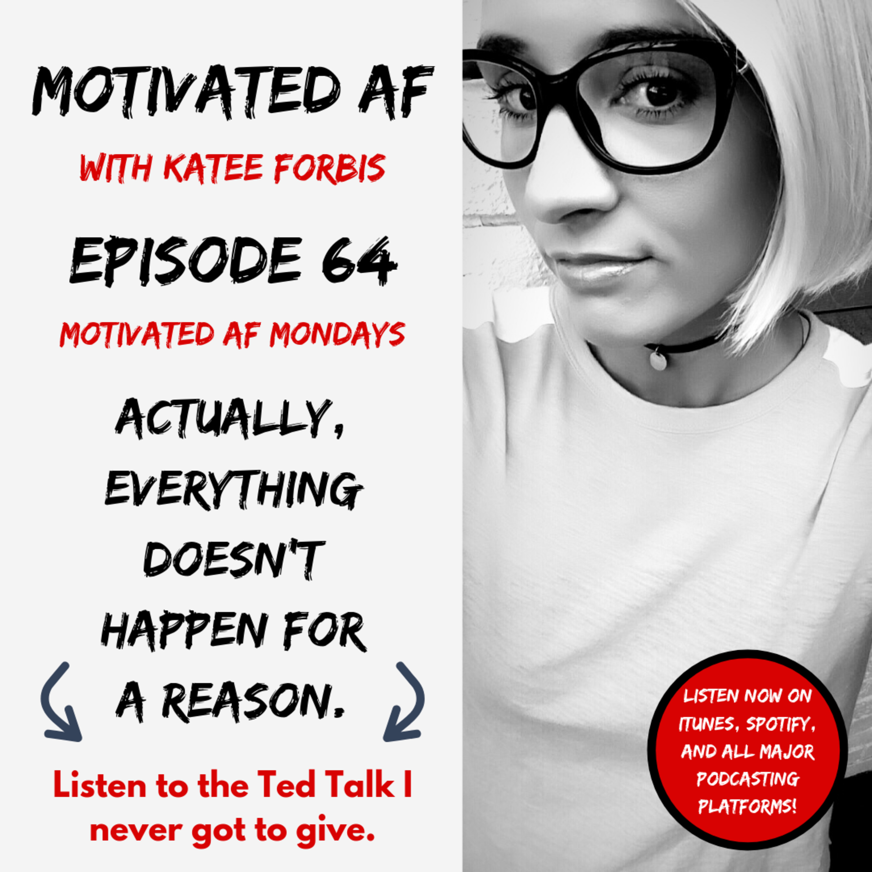 "Ep. 64 - ""Actually, Everything DOESN'T Happen For A Reason"" aka The Ted Talk I Never Got To Give"