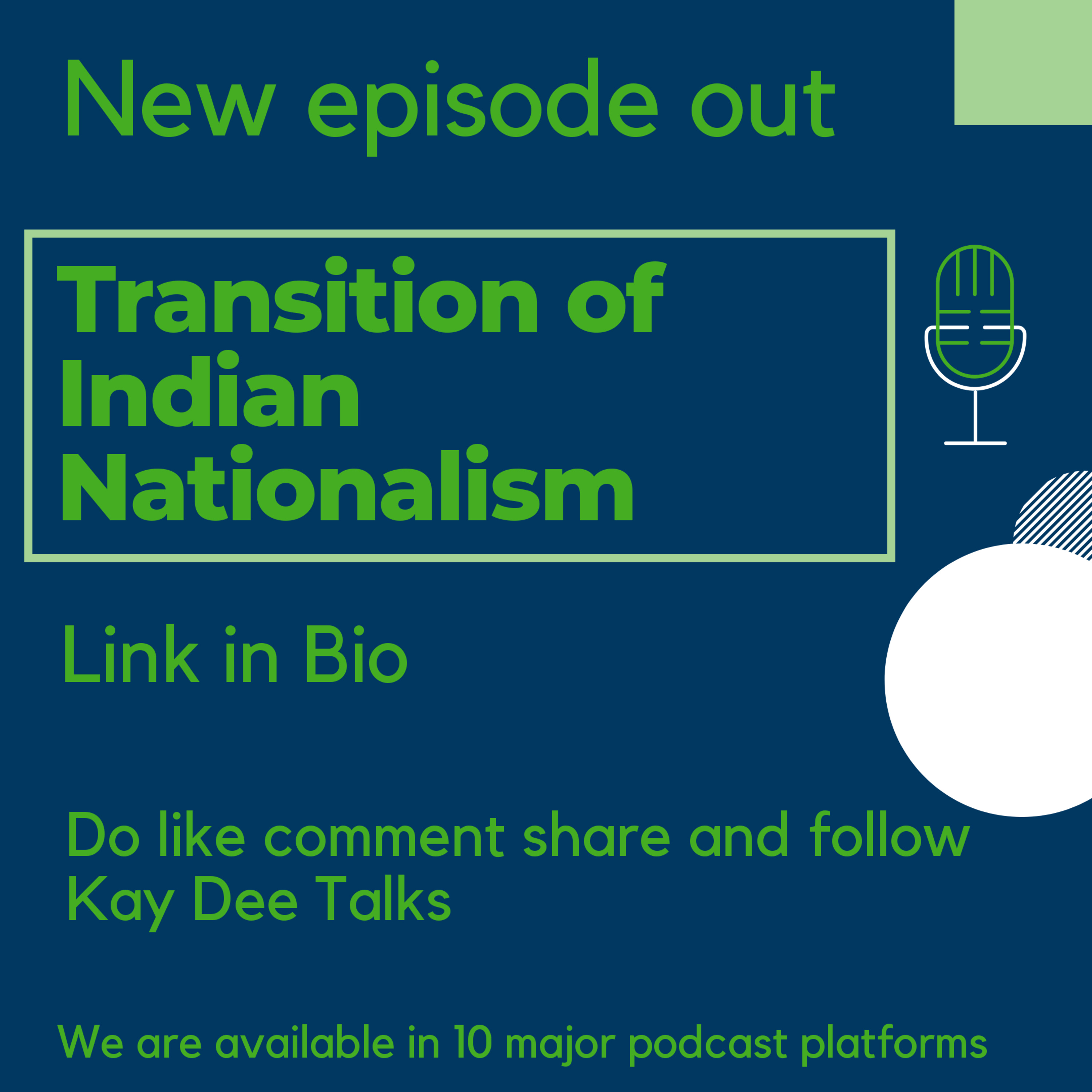 Transition of Indian Nationalism | Hyper Nationalism | Hindi Imposition | Partition | Kay Dee Talks - Tamil Podcast |