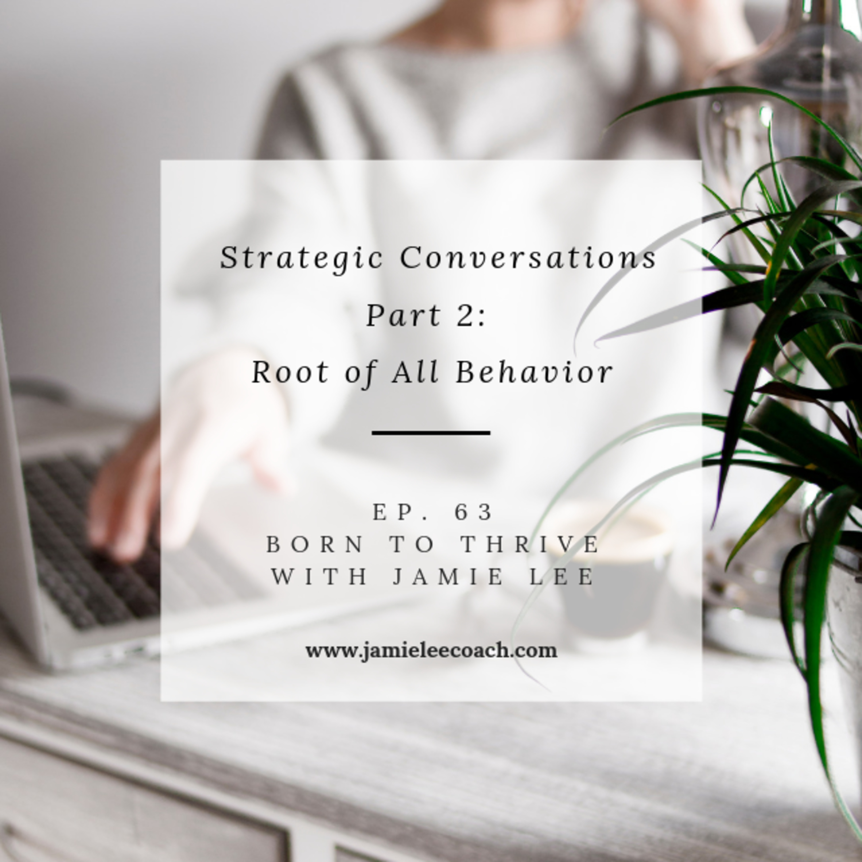 Ep 63. Strategic Conversations Part 2: Root of All Behavior