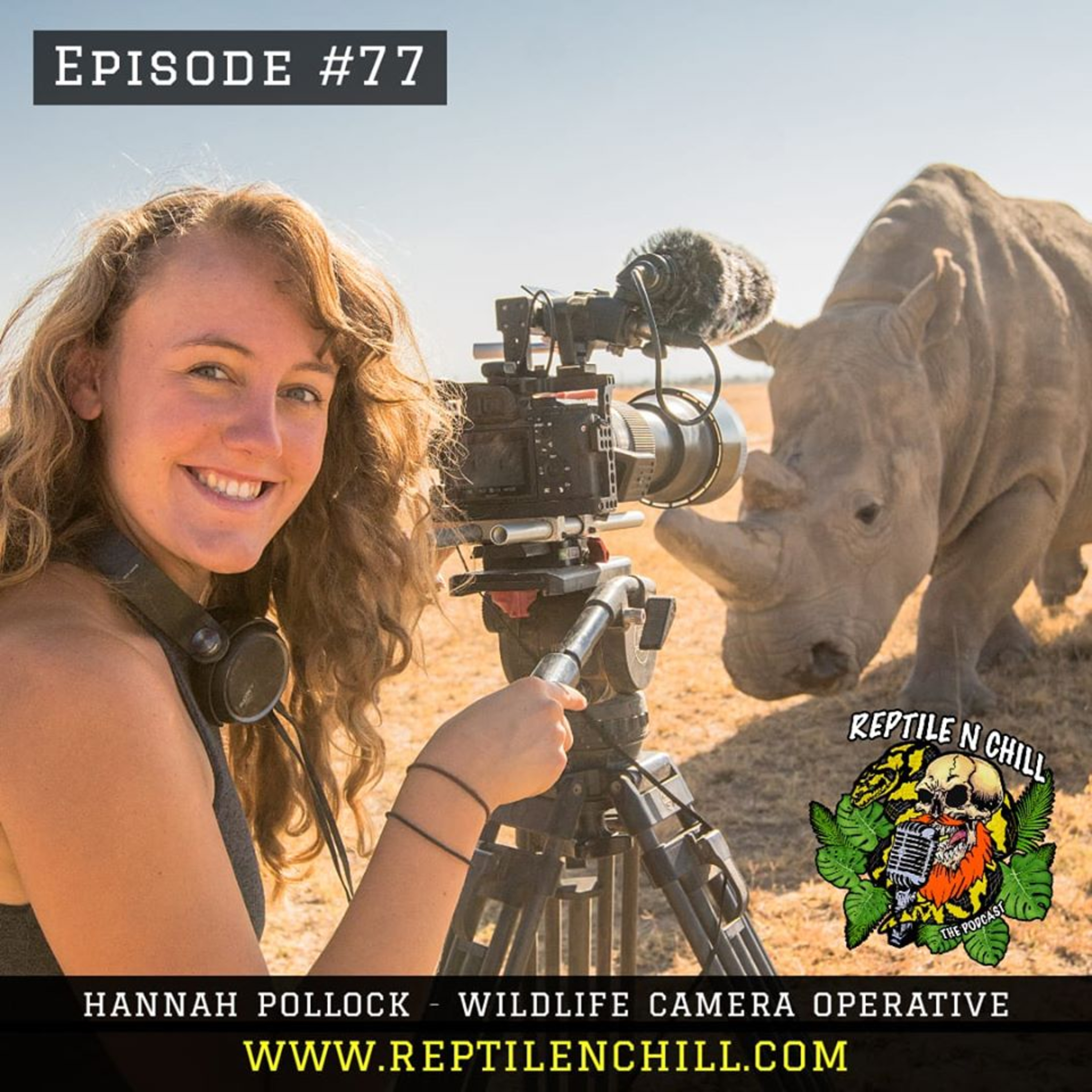 Hannah Pollock - BBC Deadly 60, Stand Up for Nature Bicycle Cinema & NatGeo Explorer - 77 Reptile n Chill