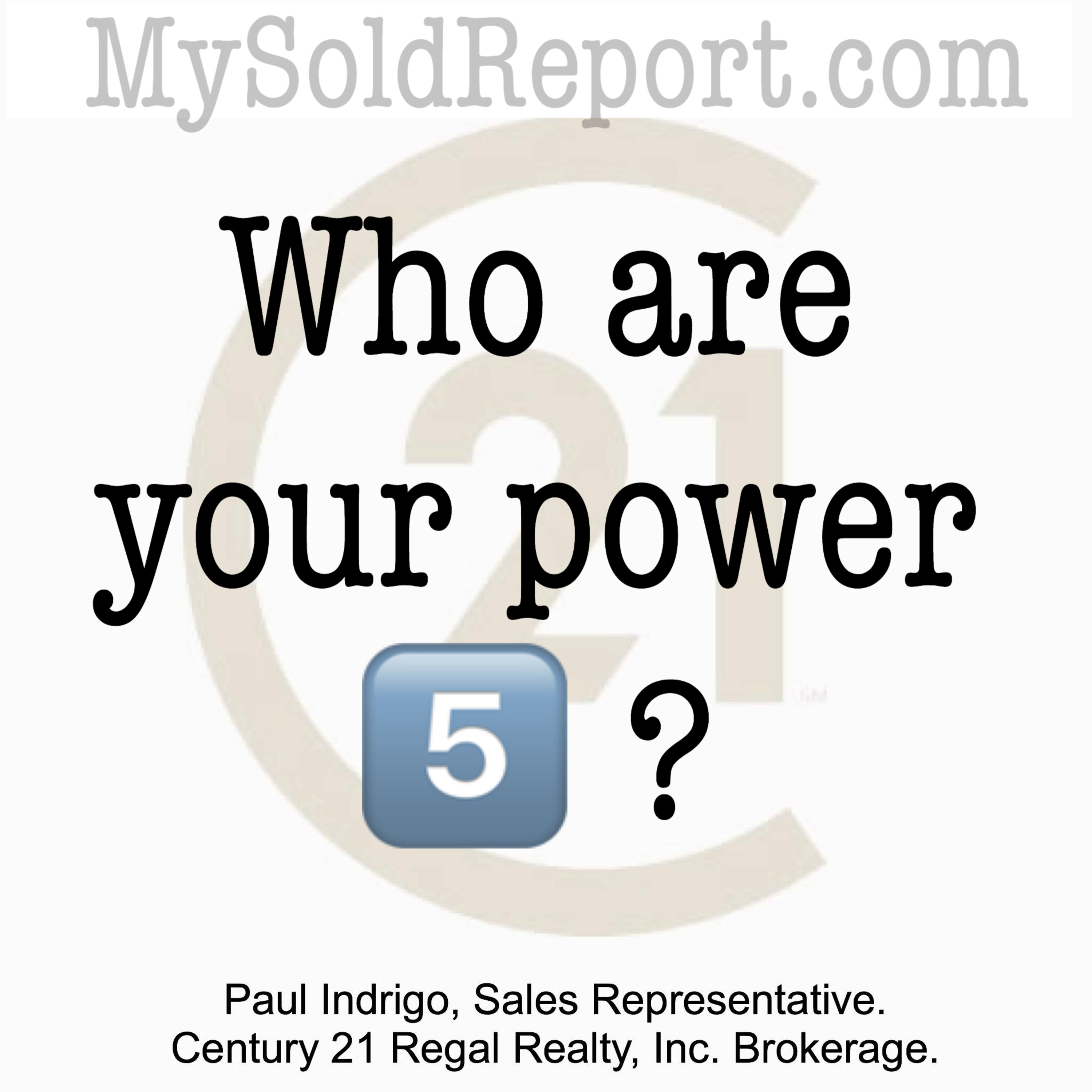 Episode 123: Who are YOUR power 5? Aka the good people in your life