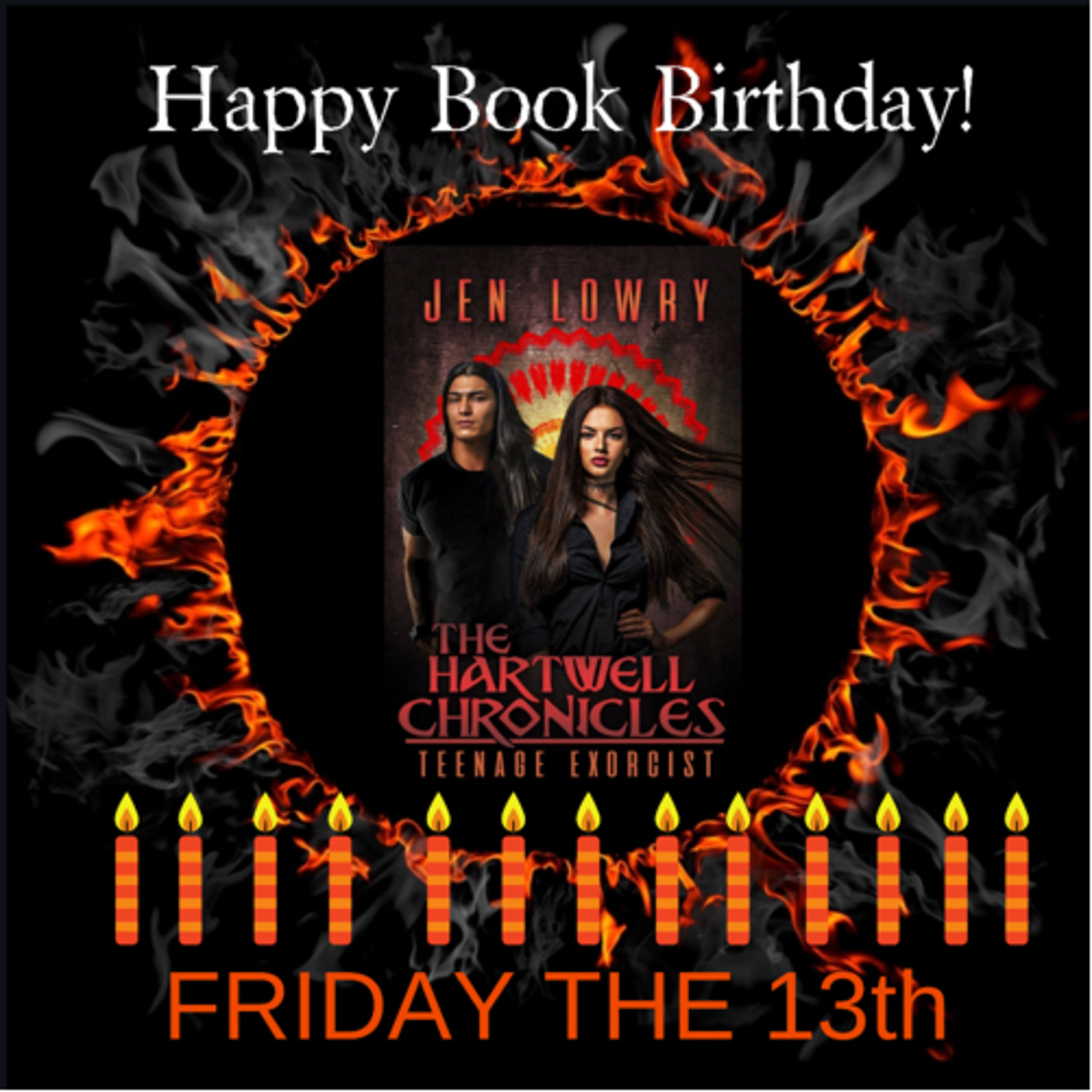 Book Birthday - The Hartwell Chronicles Teenage Exorcist