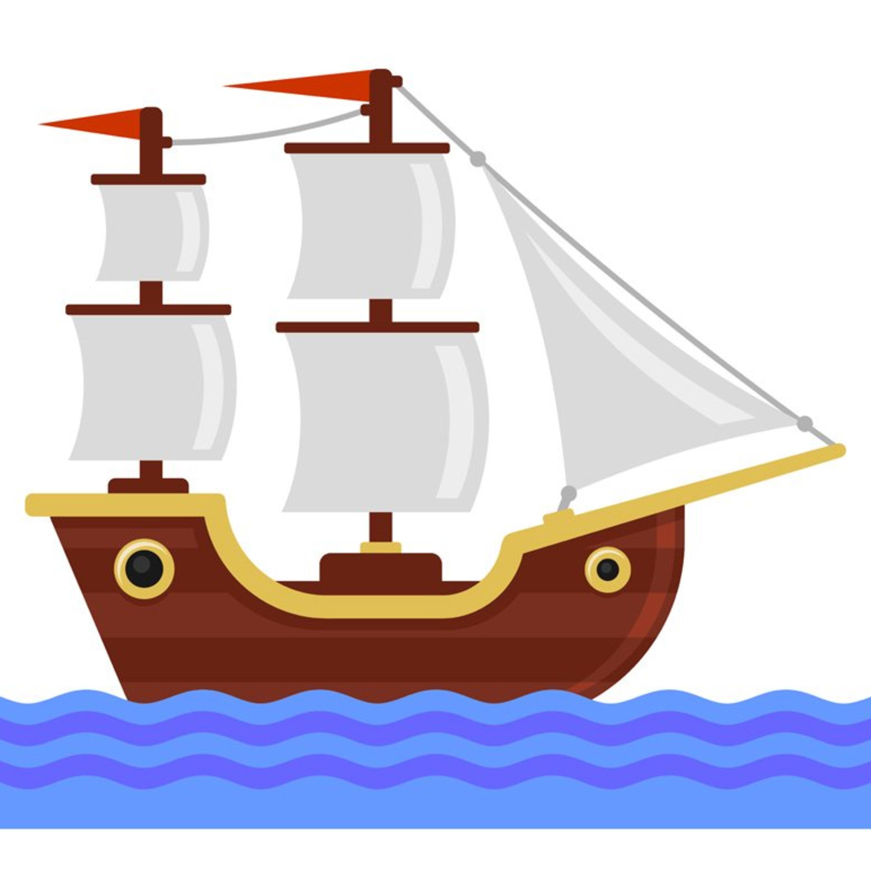 Caleb and his dad explore a magic sail ship
