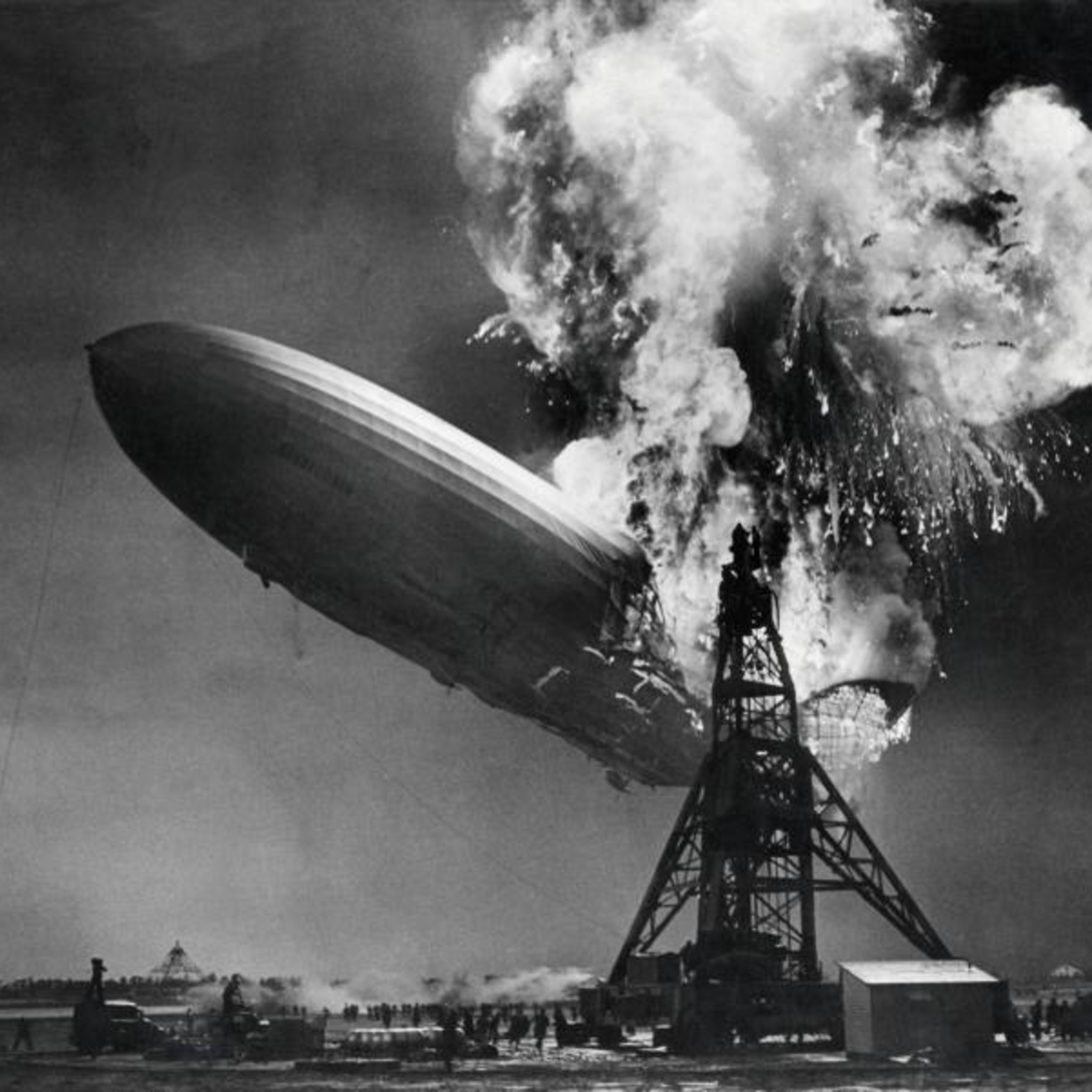 The Hindenberg Arrival in Lakehurst NewJersey, 1937 radio broadcast.