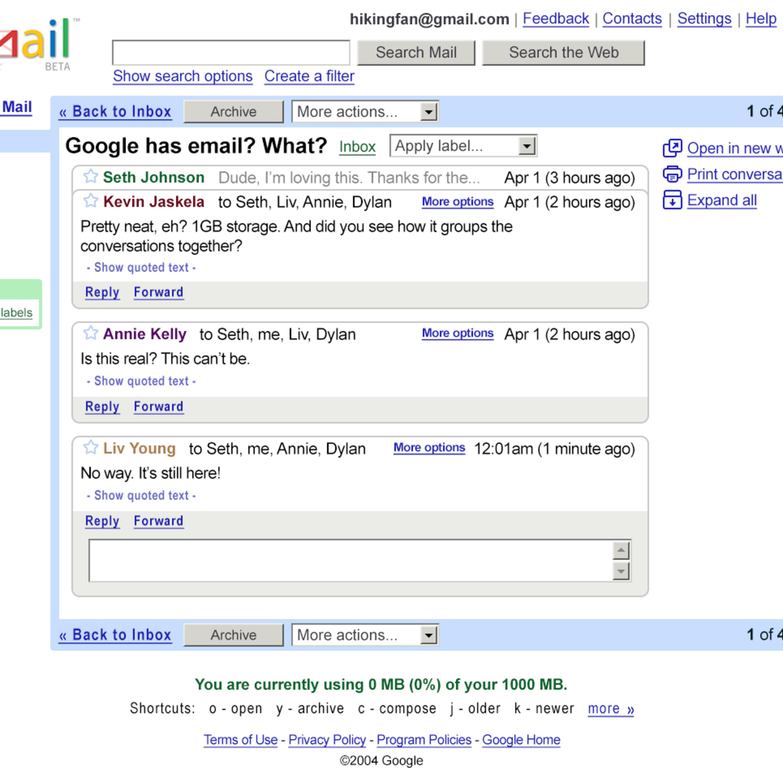 Gmail celebra sus 15 años