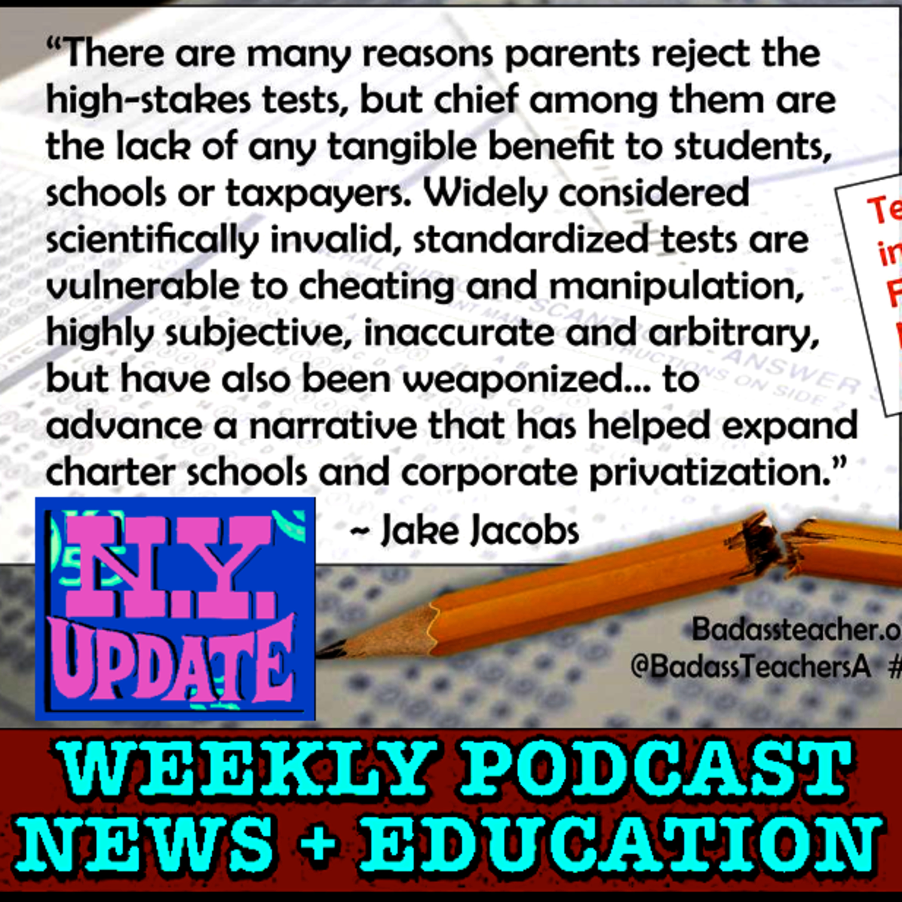 NY COMMISSIONER SPEAKS: Audio of Education Commissioner Elia trying to defend her crashing, wasteful NY state tests. Originally aired 04-09-19.