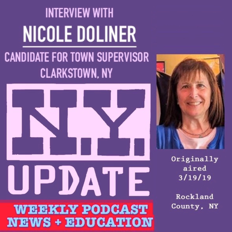 MAR-13-2019 EPISODE: Nicole Doliner, candidate for Clarkstown Supervisor