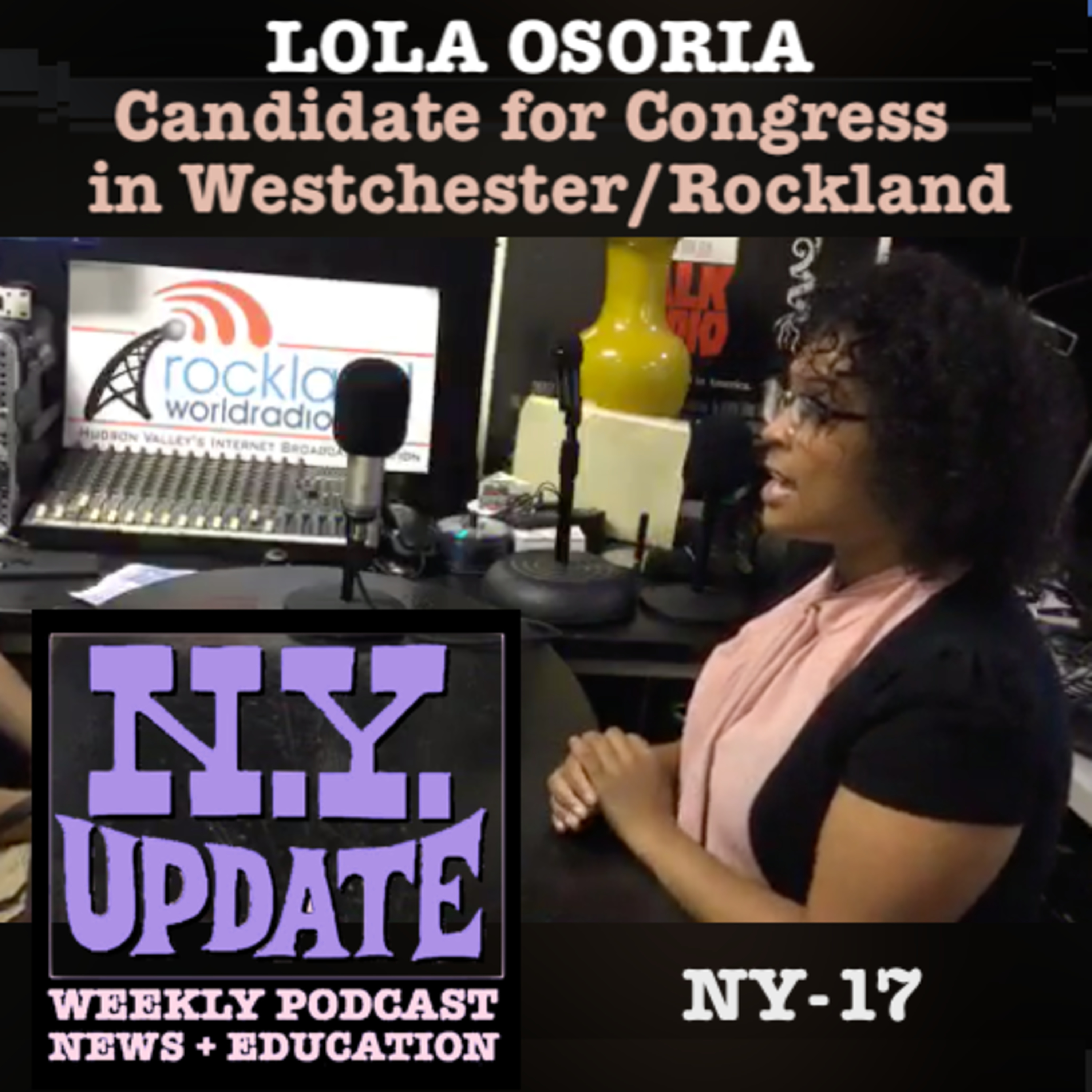Lola Osoria, Candidate for Congress in NY-17. Aired 6-28-19