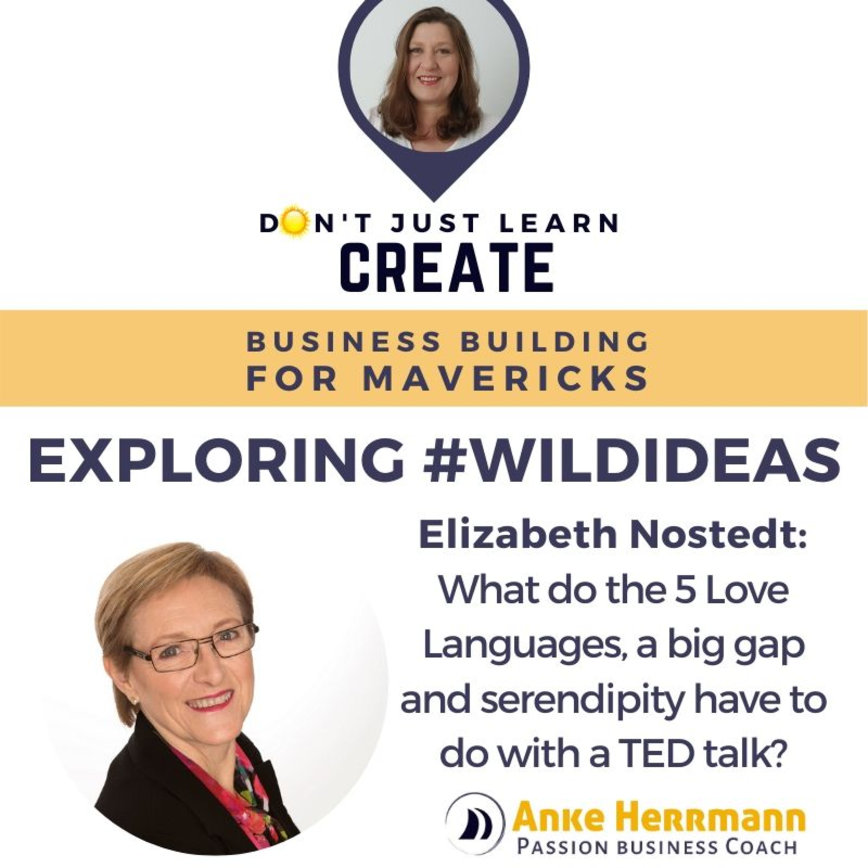 Exploring #WildIdeas with Elizabeth Nostedt: What do the 5 Love Languages, a big gap and serendipity have to do with a TED talk?