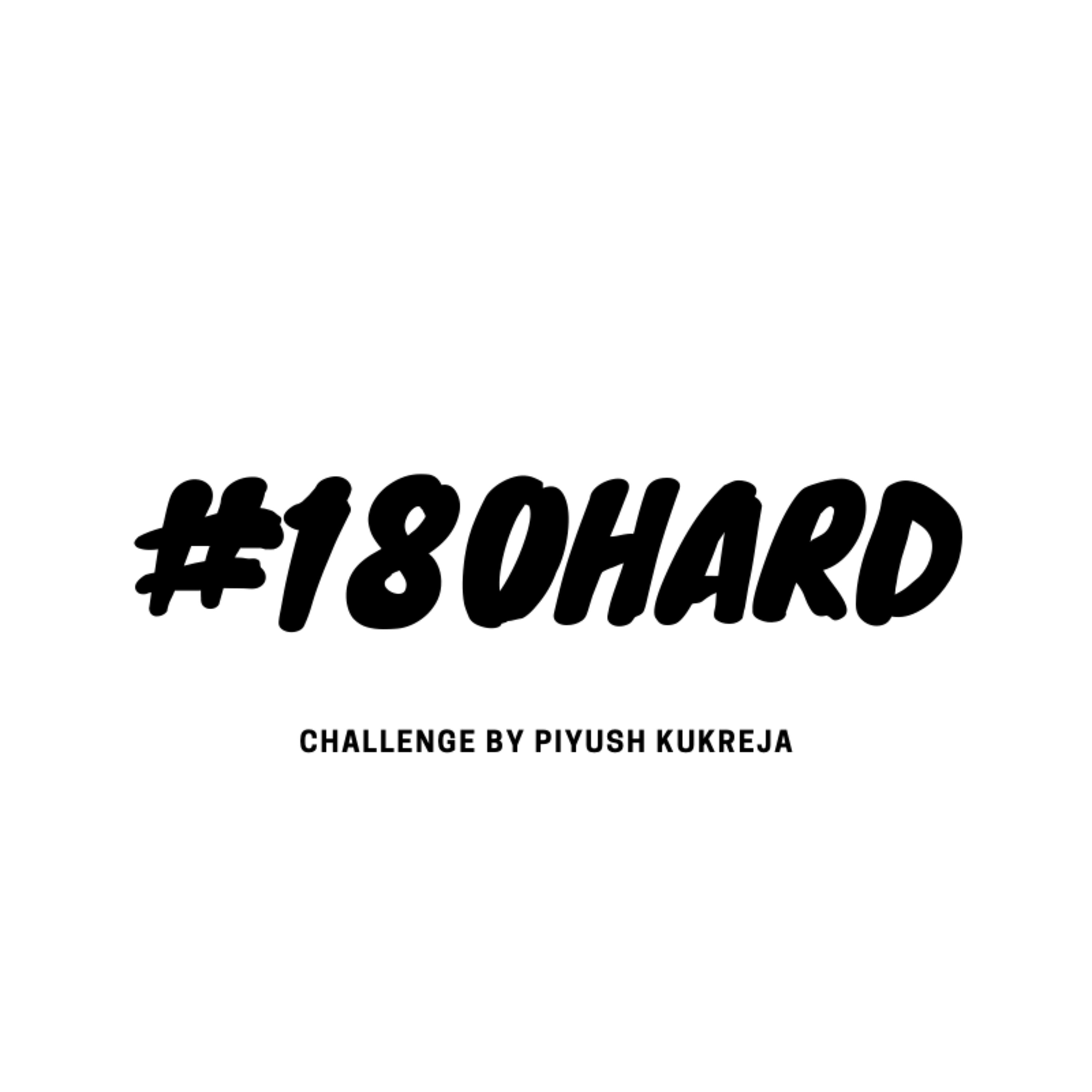All about my New Challenge #180Hard | #E031