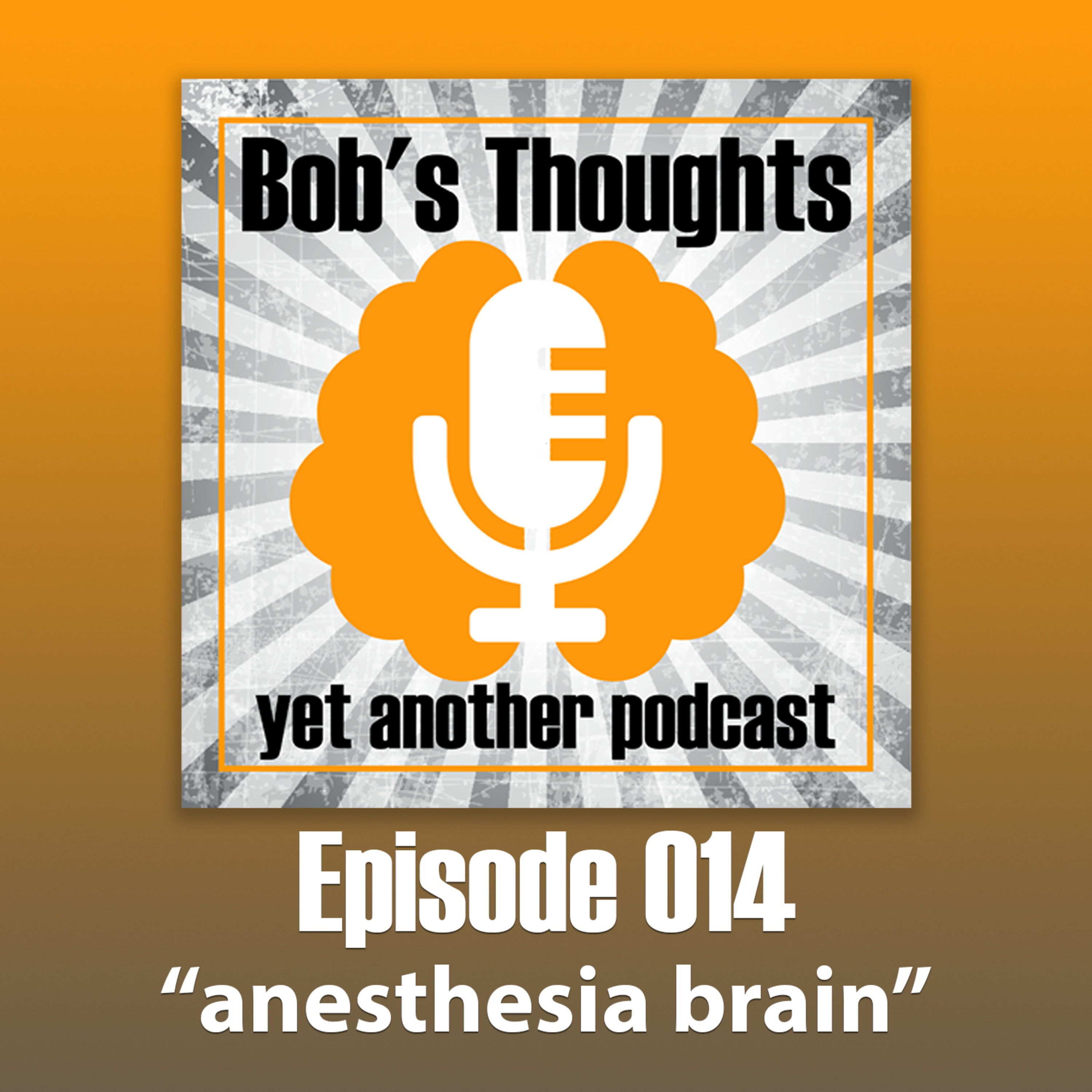 Ep. 014 - Anesthesia Brain - How General Anesthesia Made Me Forget My Passwords