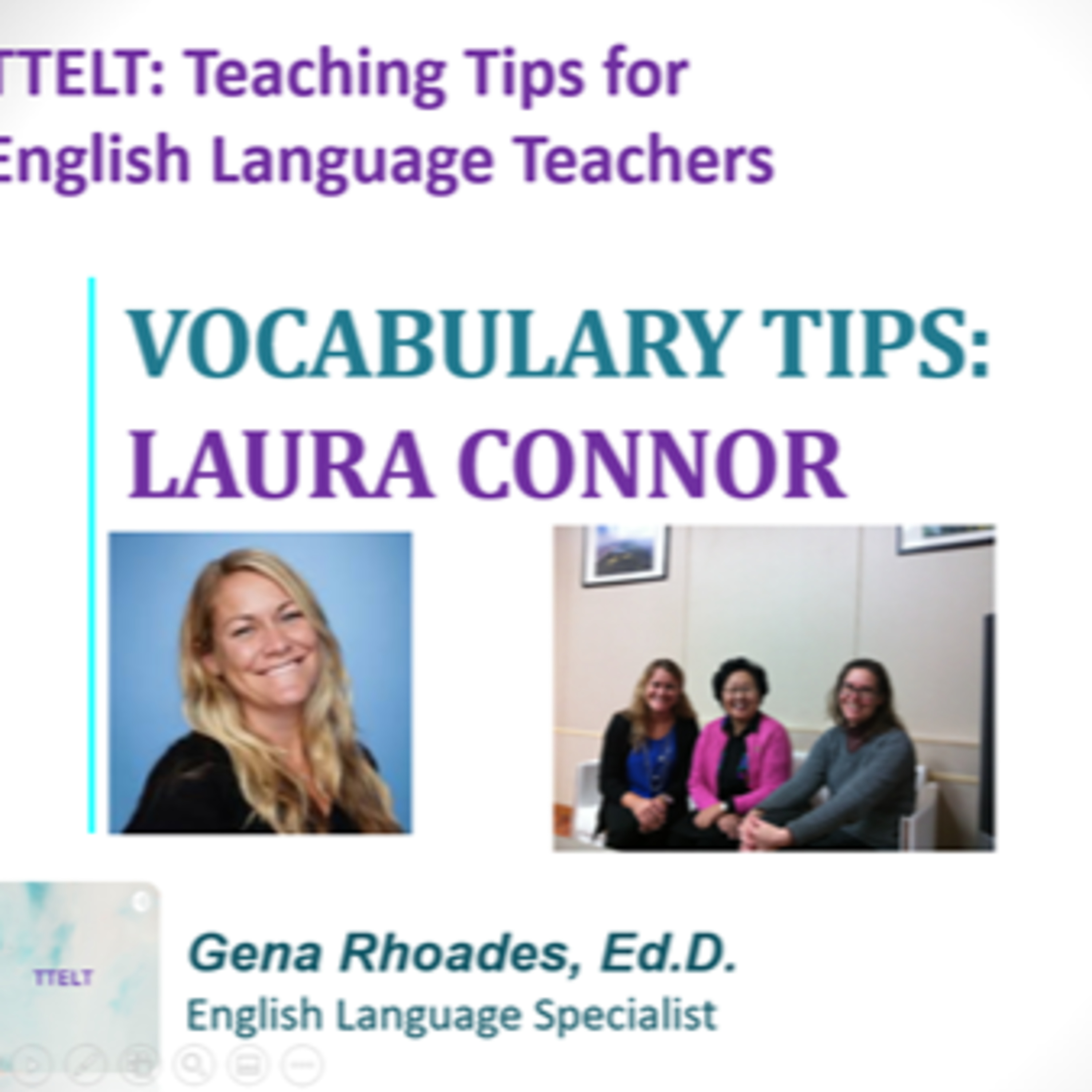9.0 Vocabulary Tips with Laura Connor