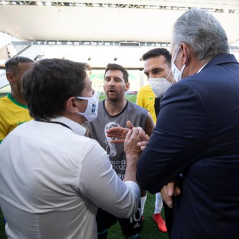 Brasil x Argentina interrompido por descumprimento de protocolos da Covid