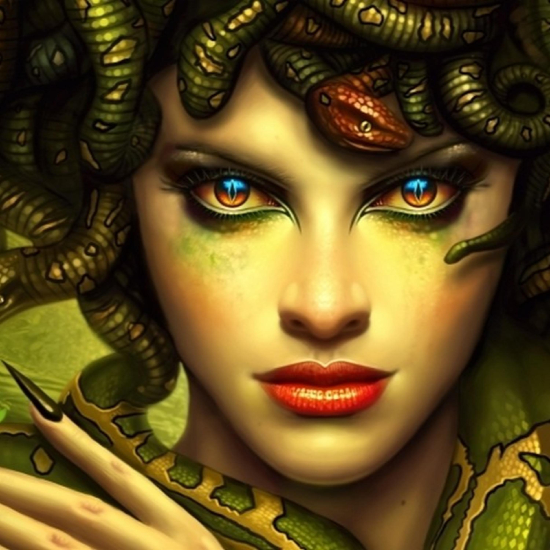 2: Medusa: Yılan saçlı kadın