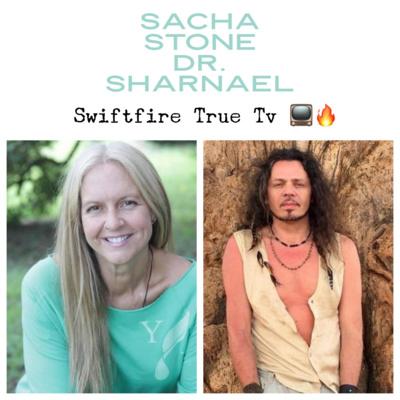 Dr. Sharnael with Sacha Stone