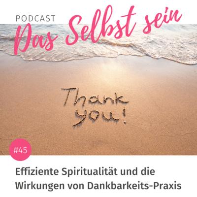 #45 Effiziente Spiritualität und die Wirkungen von Dankbarkeits-Praxis