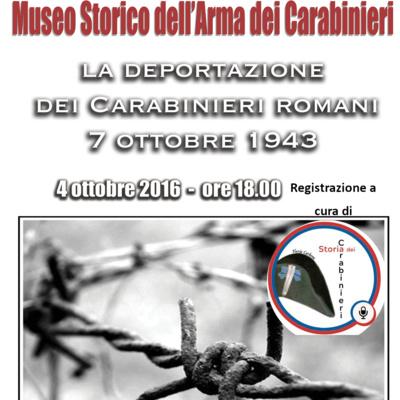 Extra 001. La commemorazione del 7 ottobre 1943 al Museo Storico dell'Arma (4 ottobre 2016)
