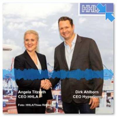 HHLA und Hyperloop Pk mit Angela Titzrath und Dirk Ahlborn in Hamburg