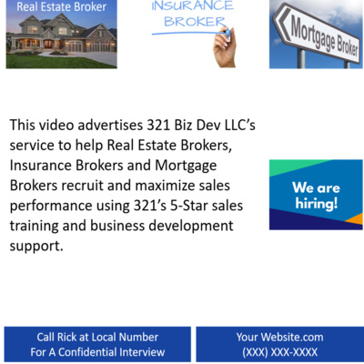 321 Recruiting and 5-Star Sales Training Support for Brokers
