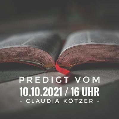 CLAUDIA KÖTZER - Draußen vor dem Tor [Hebr 13,10-14] / 16 Uhr