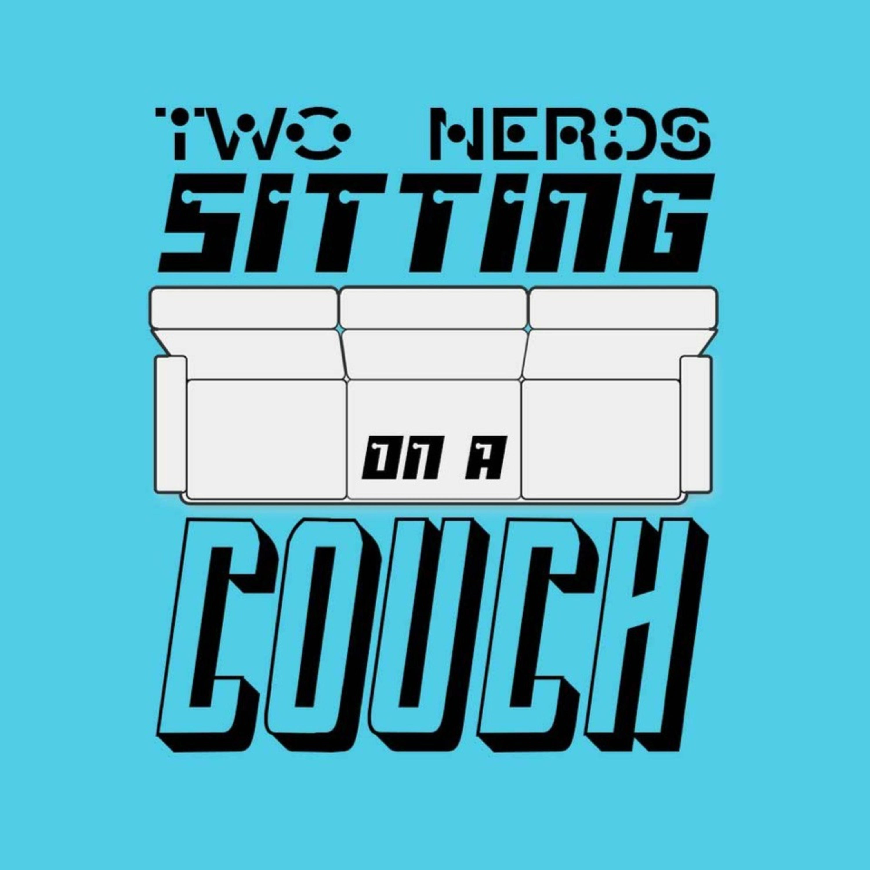 Two Nerds Sitting on a Couch